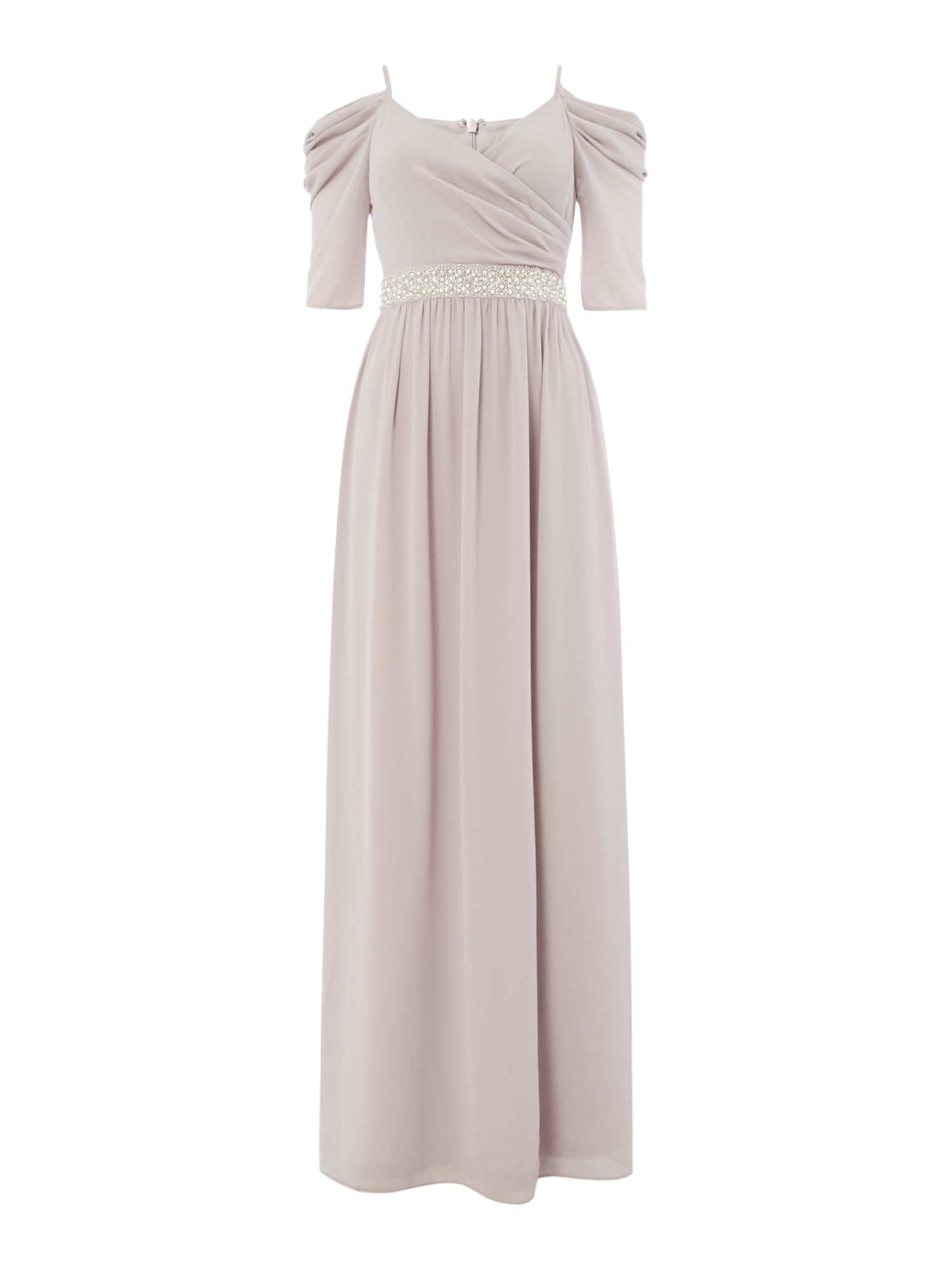 tfnc Strappy cold shoulder gown, Lavender