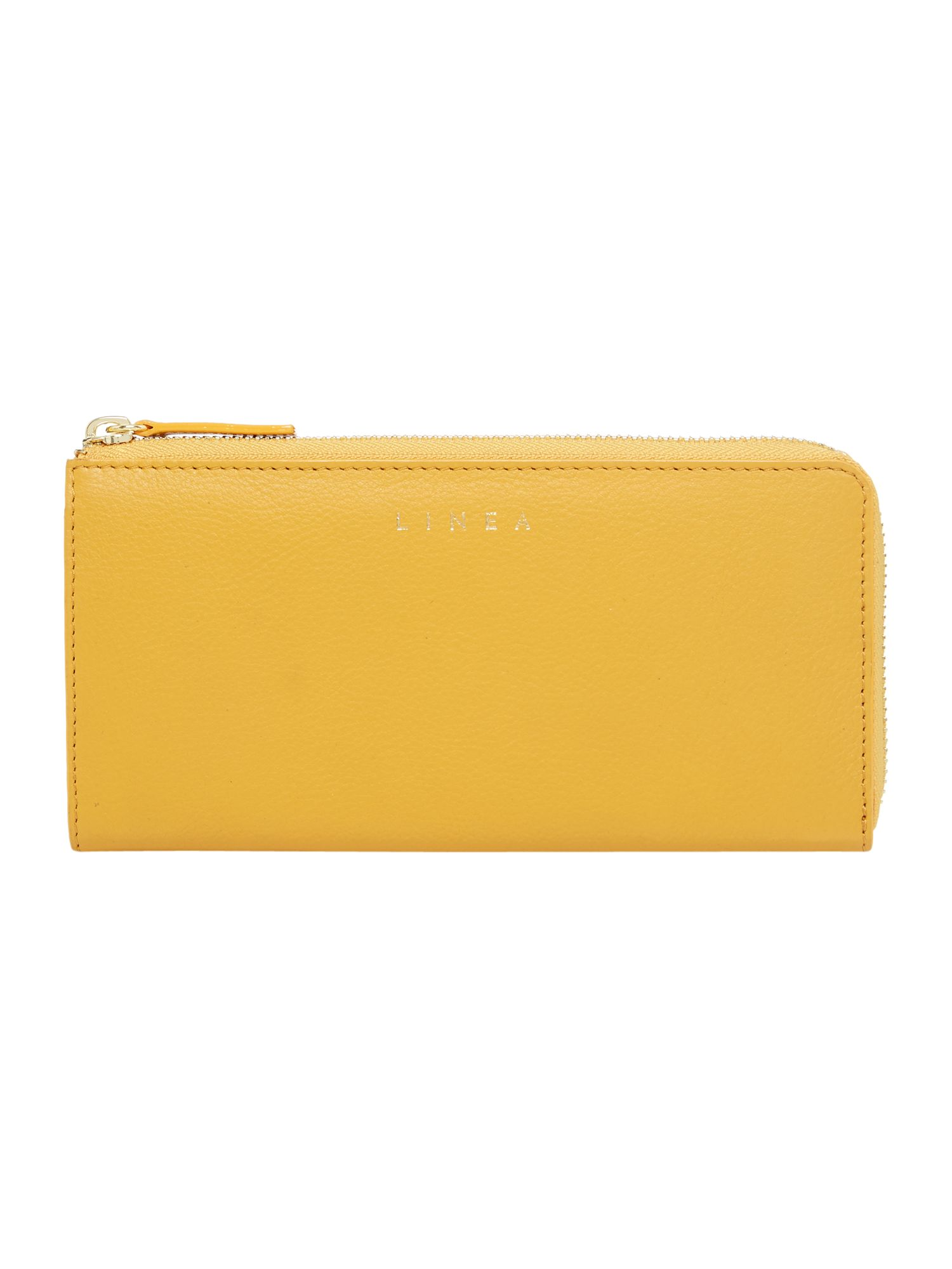 Linea Bennie Zip Around Leather Purse, Yellow