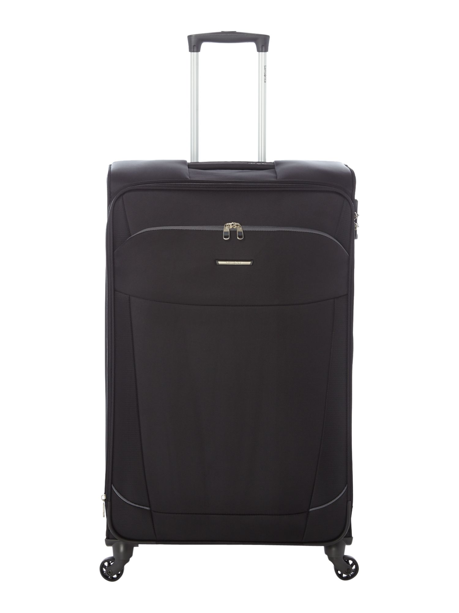 Samsonite Artos Black Large Expandable Spinner Suitcase, Black