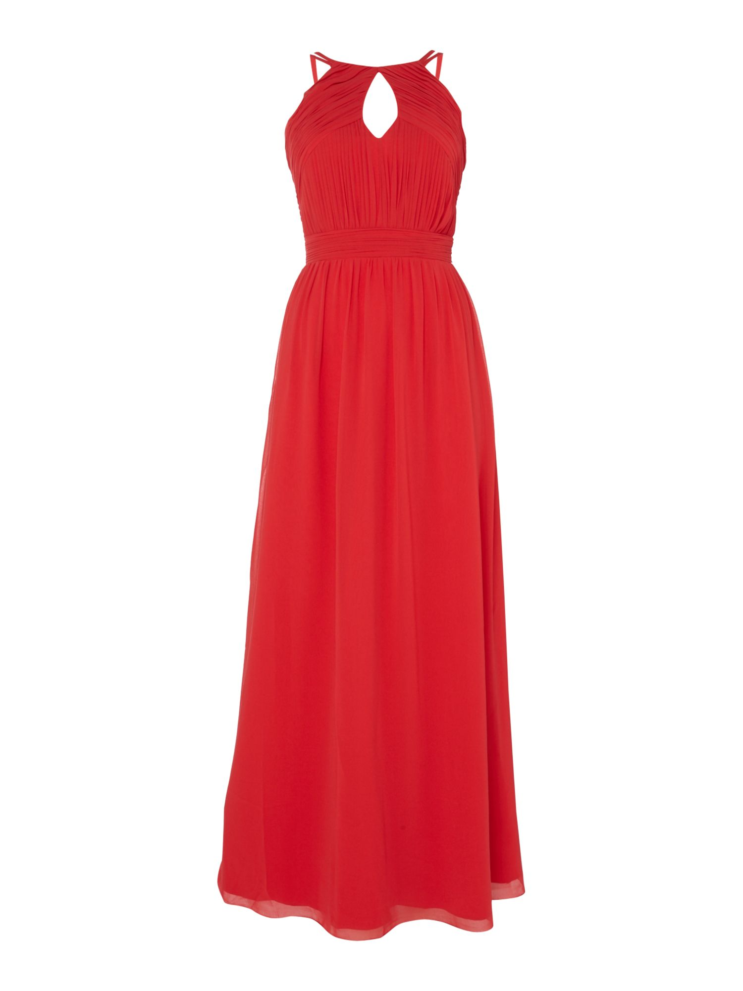 Little Mistress High neck strappy maxi dress, Red