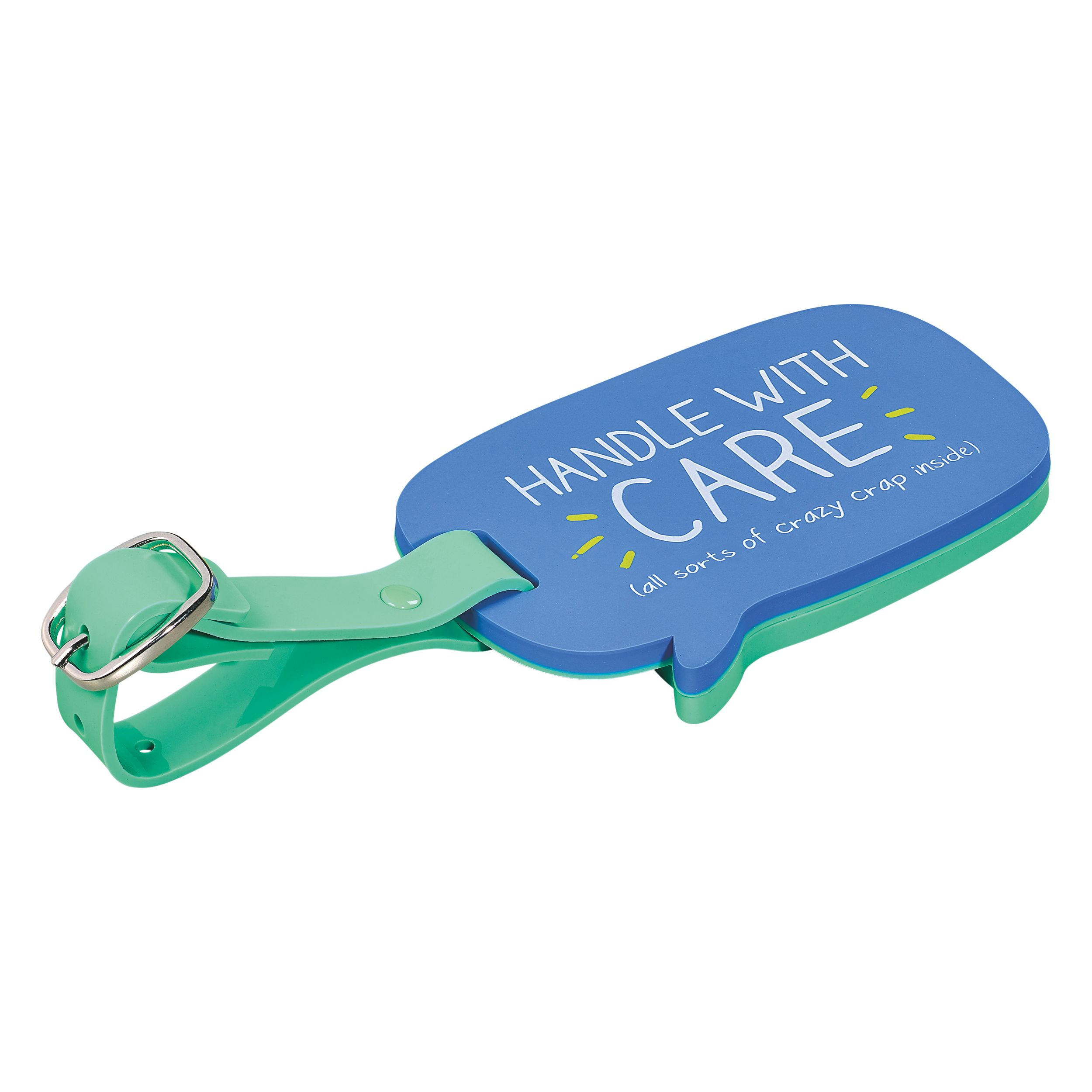 Happy Jackson Luggage Tag Handle With Care, Blue