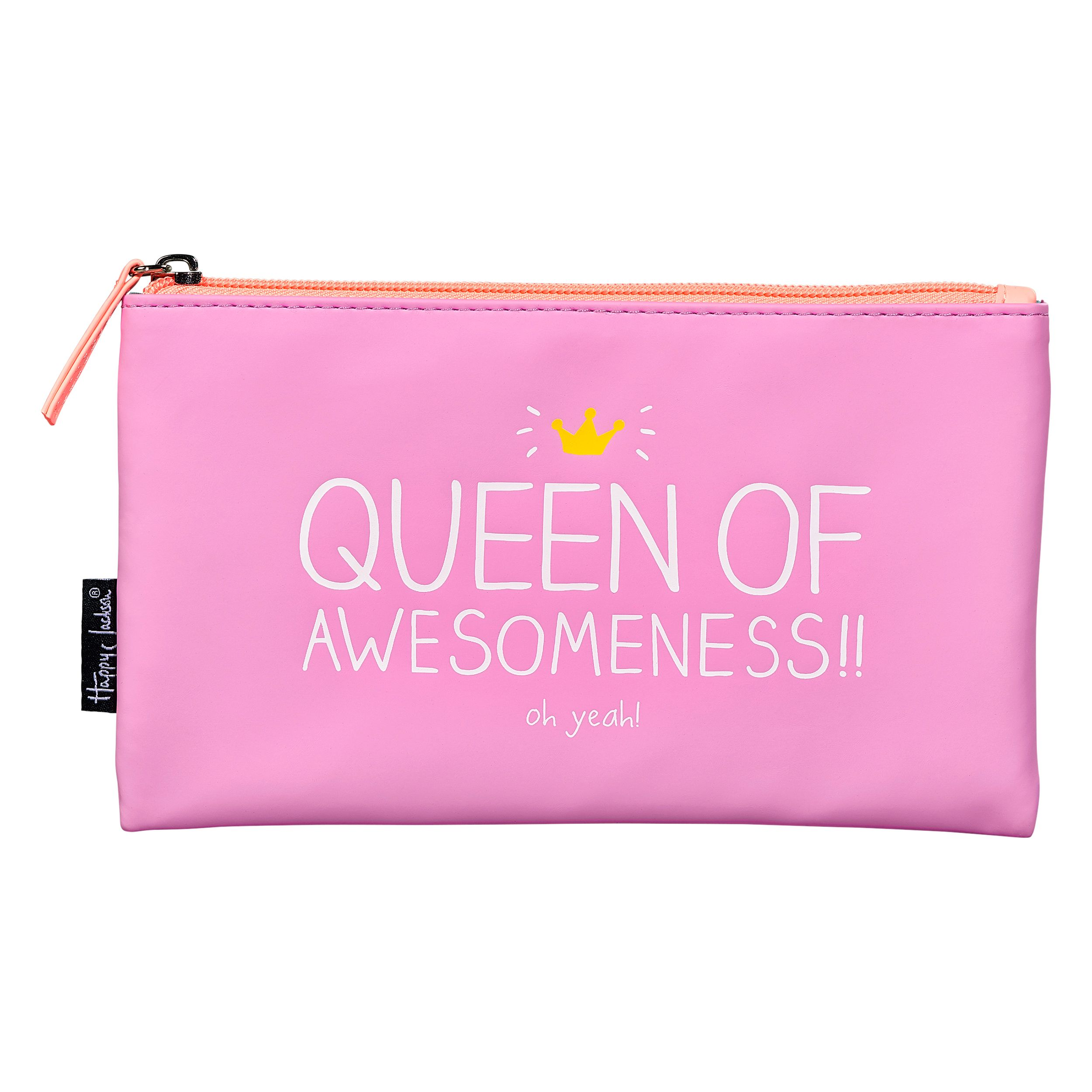 Happy Jackson Queen of Awesomeness Handy Pouch, Pink