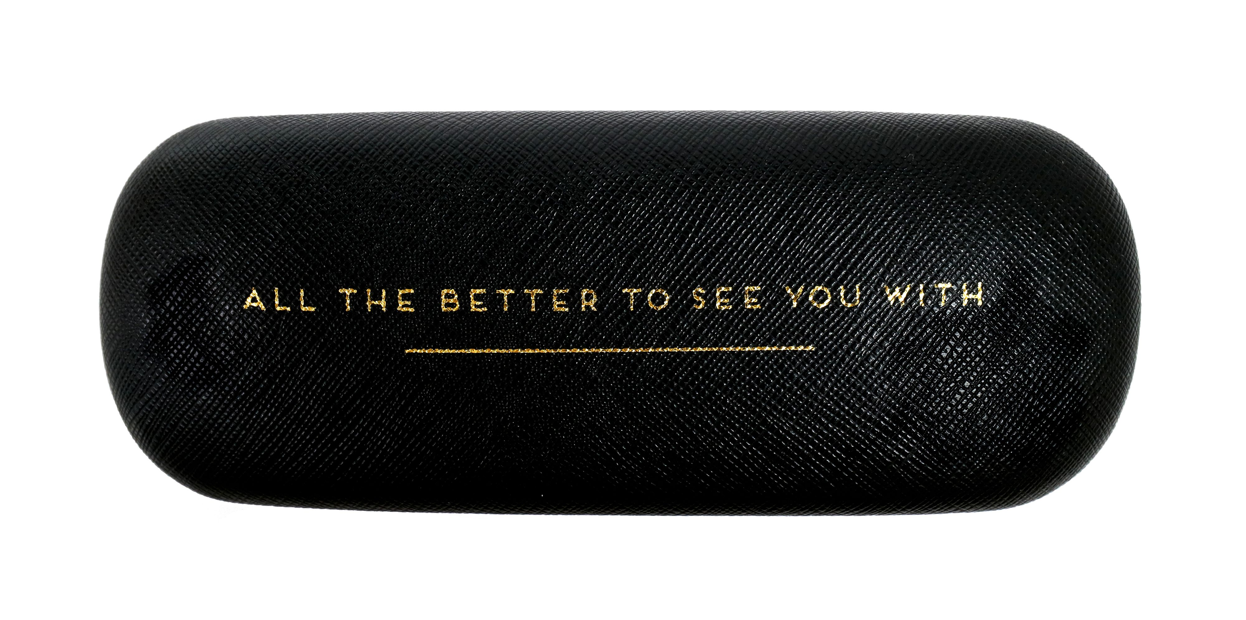 Alice Scott Hard Glasses Case All The Better To See You With, Black
