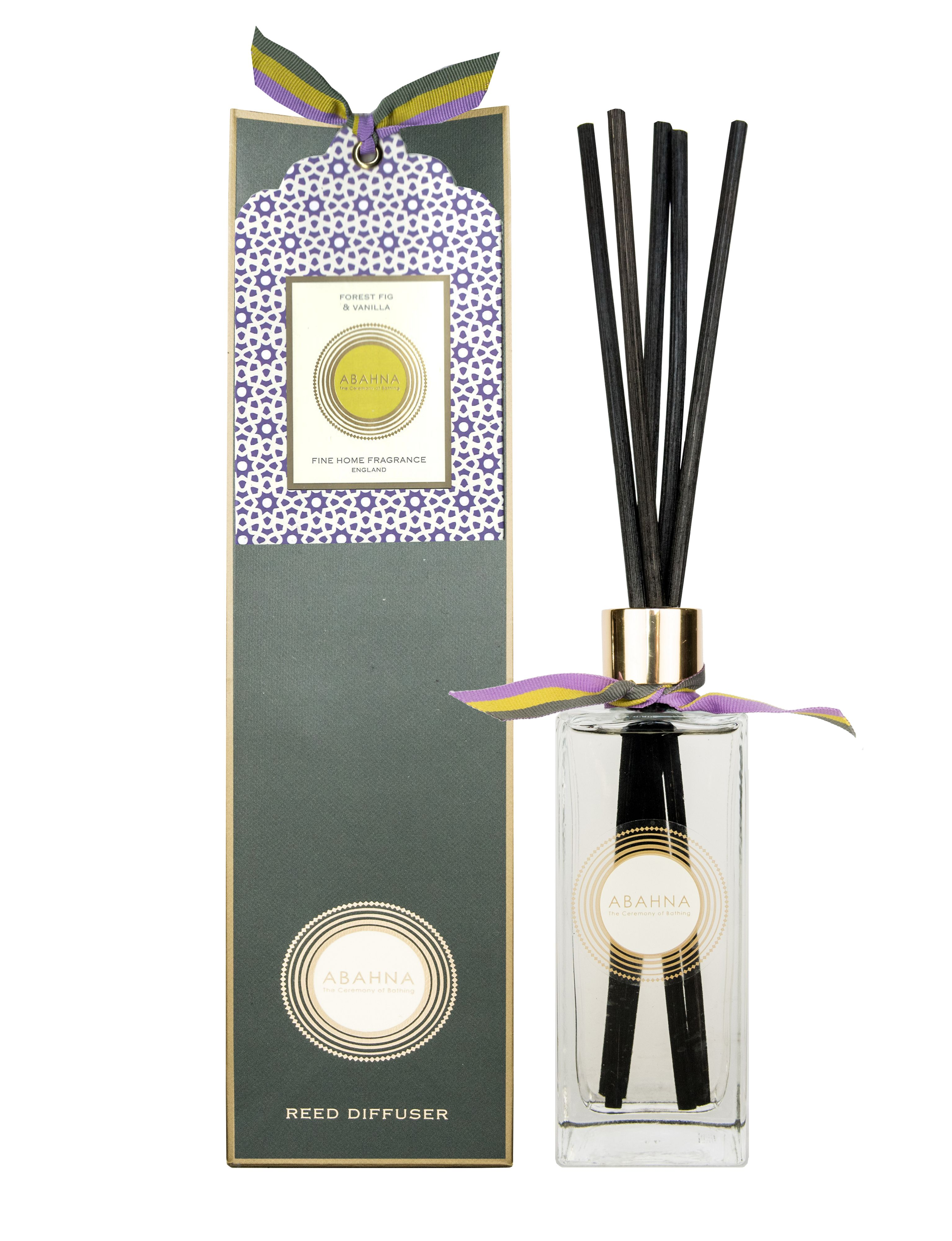 Image of Abahna Forest Fig & Vanilla Reed Diffuser Set 200ml