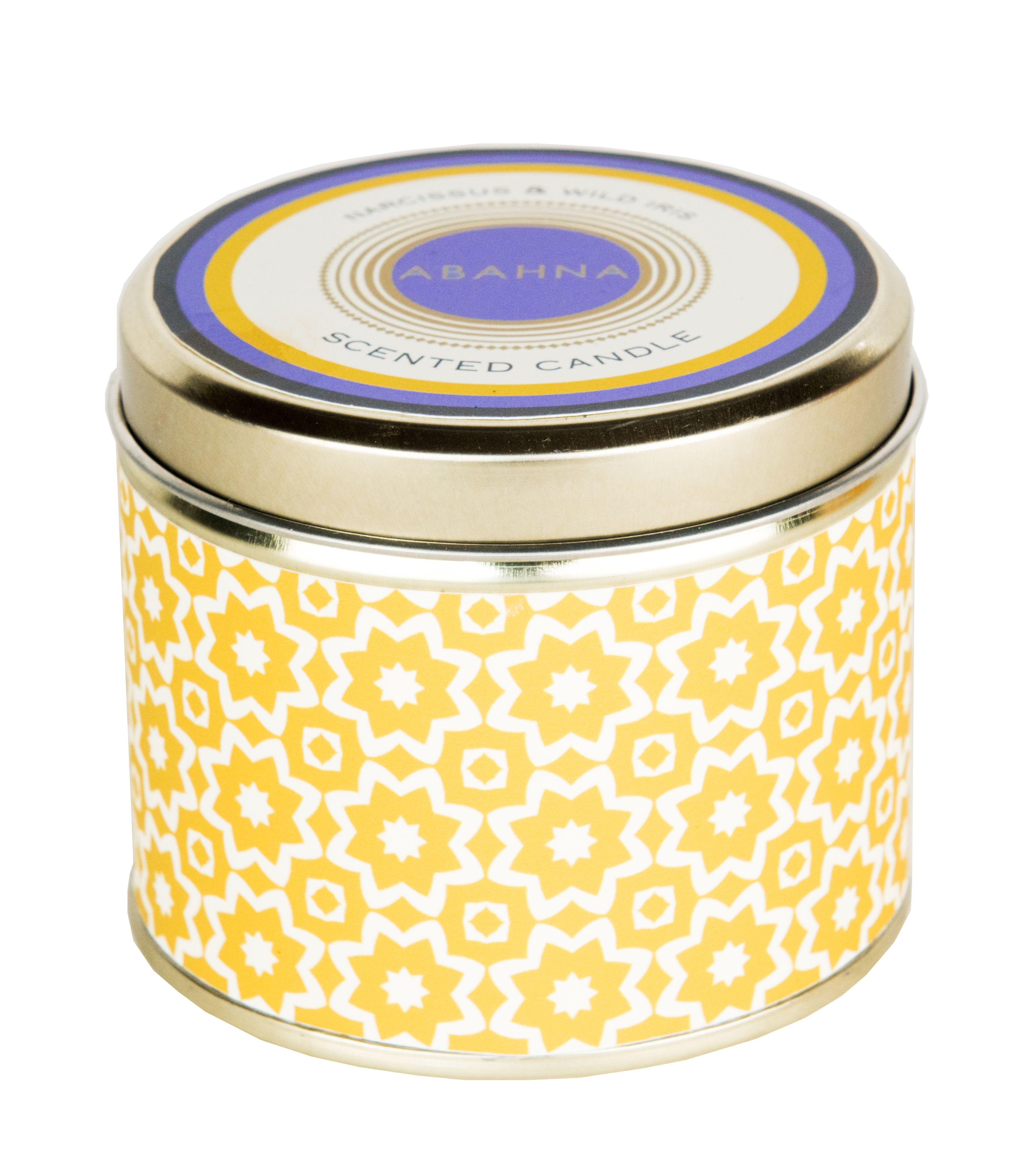 Image of Abahna Narcissus & Wild Iris Scented Candle Tin 160g
