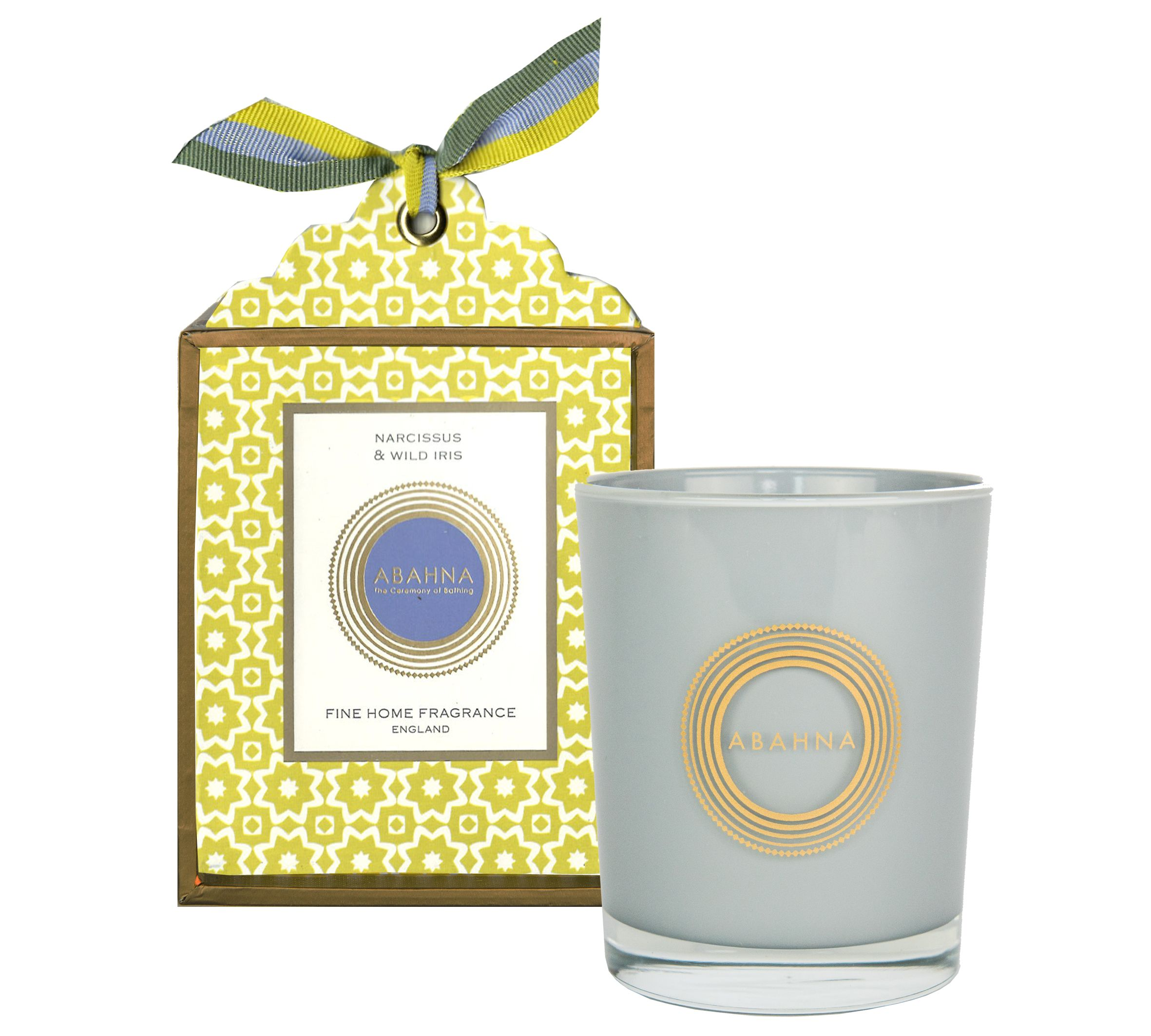 Image of Abahna Narcissus & Wild Iris Scented Candle Boxed 180g