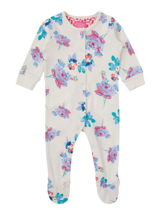 Joules Baby Girls Floral Print All In One
