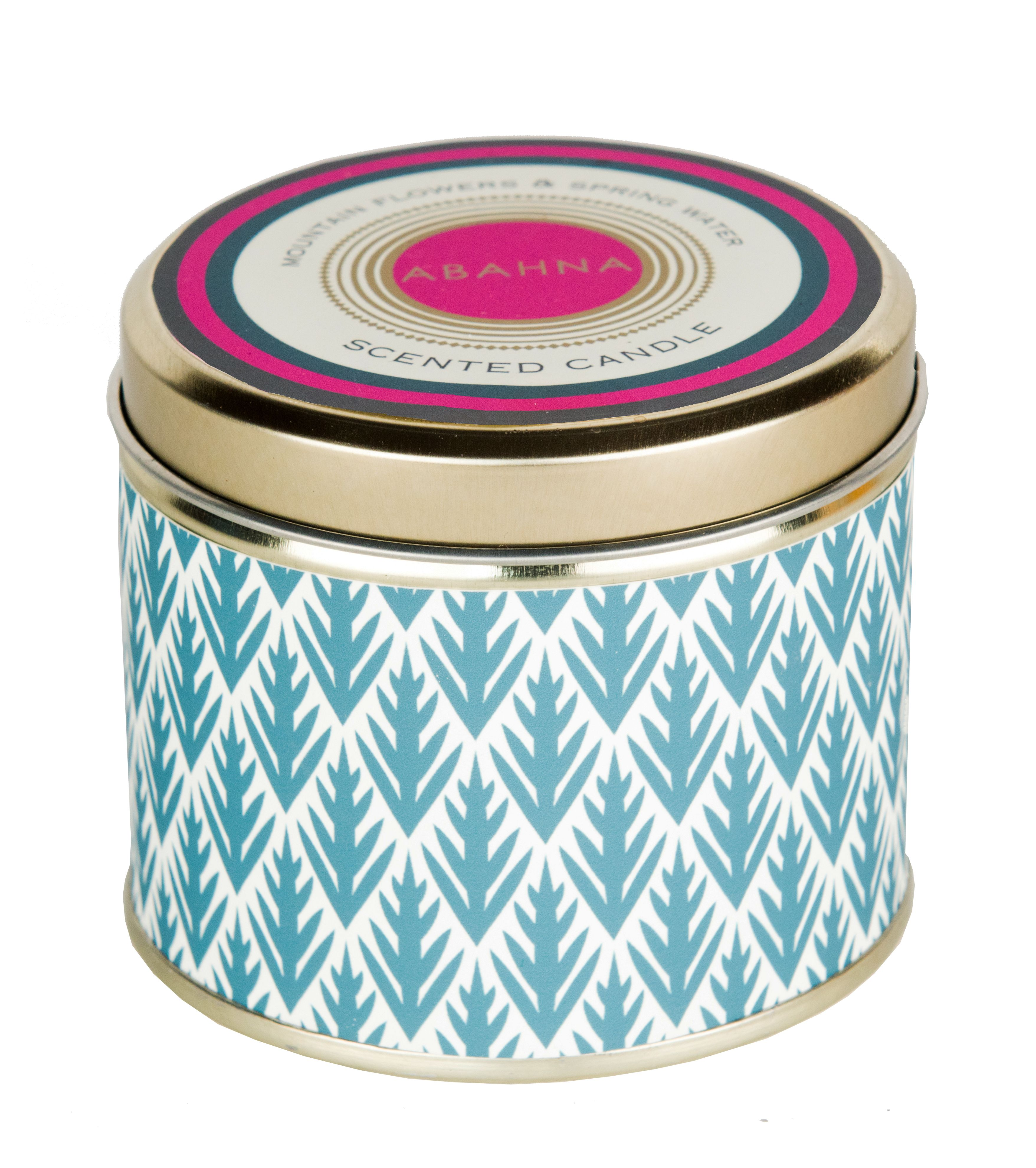 Image of Abahna Mountain Flowers & Spring Water Candle Tin 160g