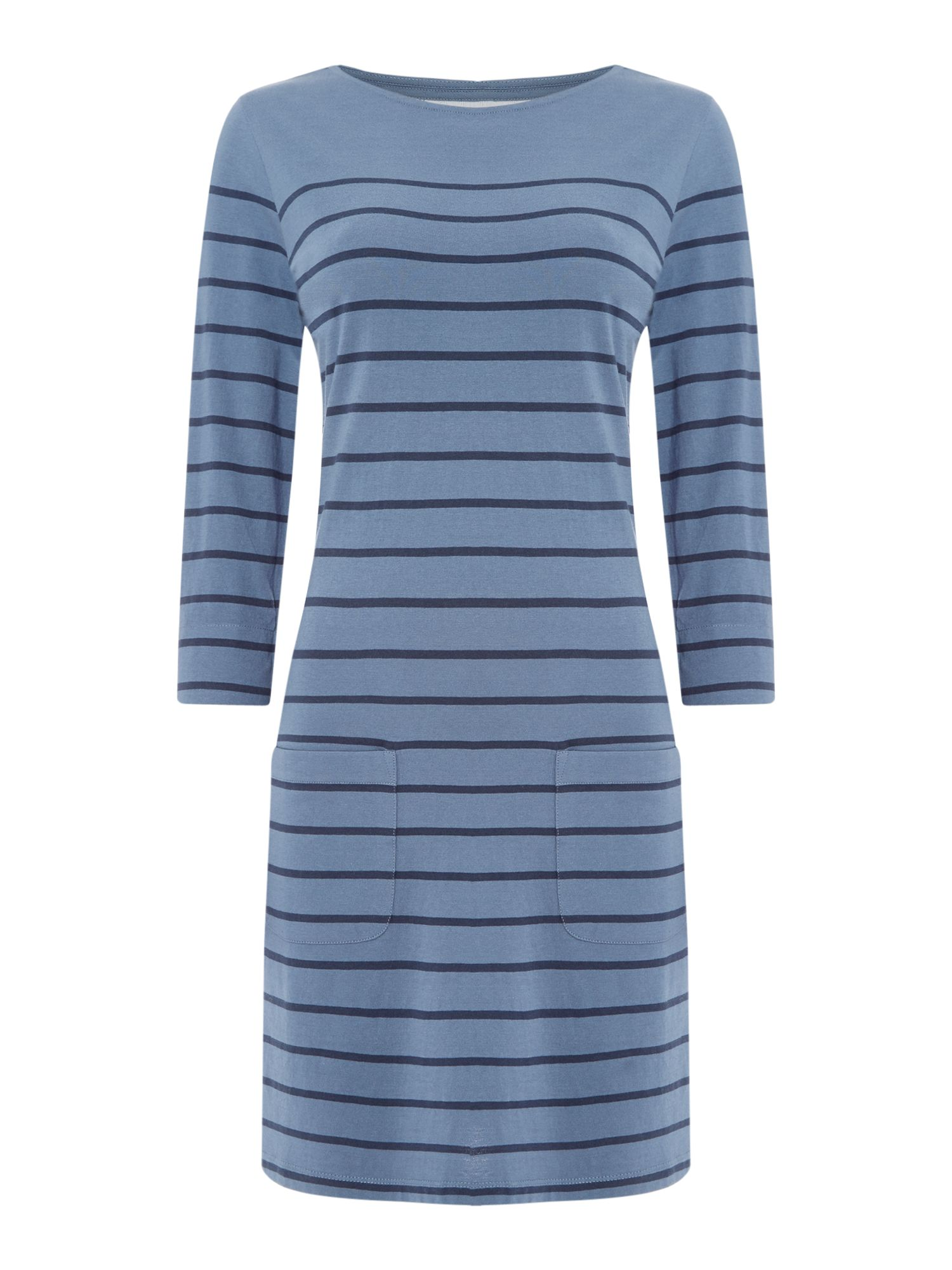 Brakeburn Jersey Stripe Dress, Blue