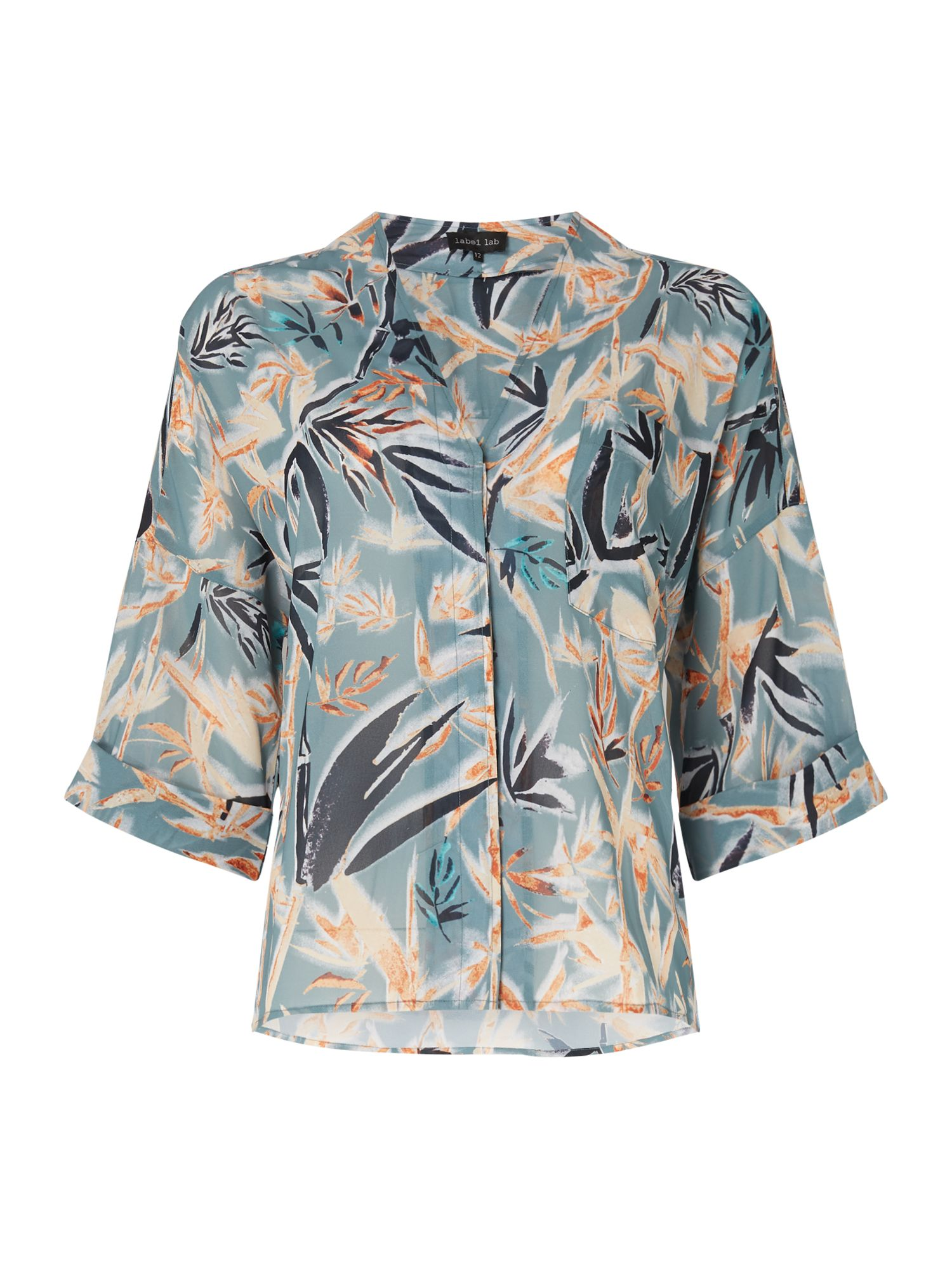 Label Lab Bamboo print avery blouse, Multi-Coloured