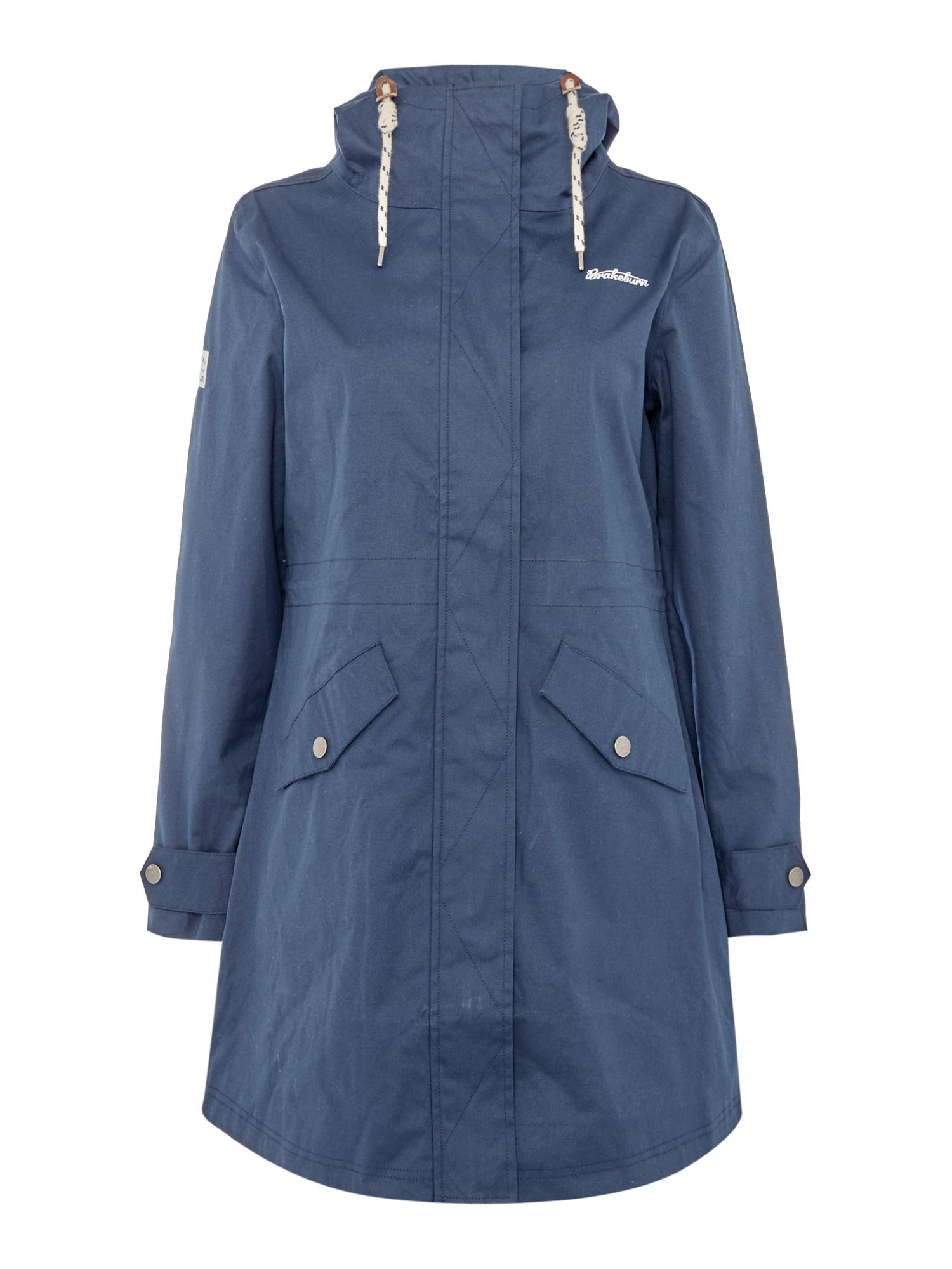 Brakeburn Shell Bay Hooded Parker with Toggles, Blue