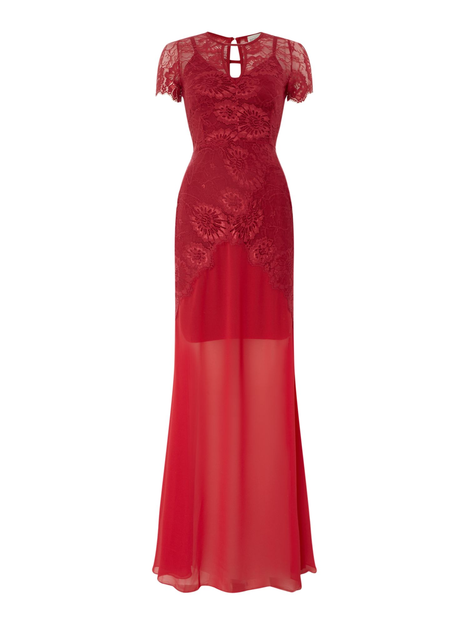 Body Frock All over lace maxi dress, Red