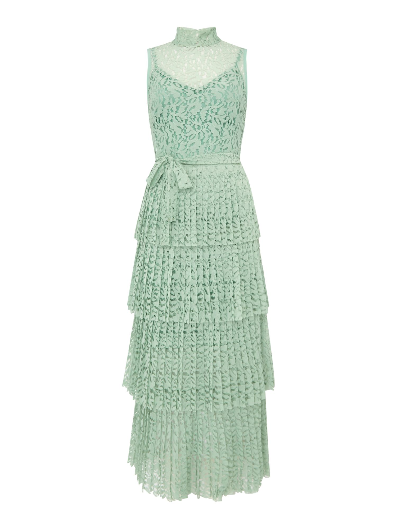 Body Frock Lace maxi dress with short sleeves, Green