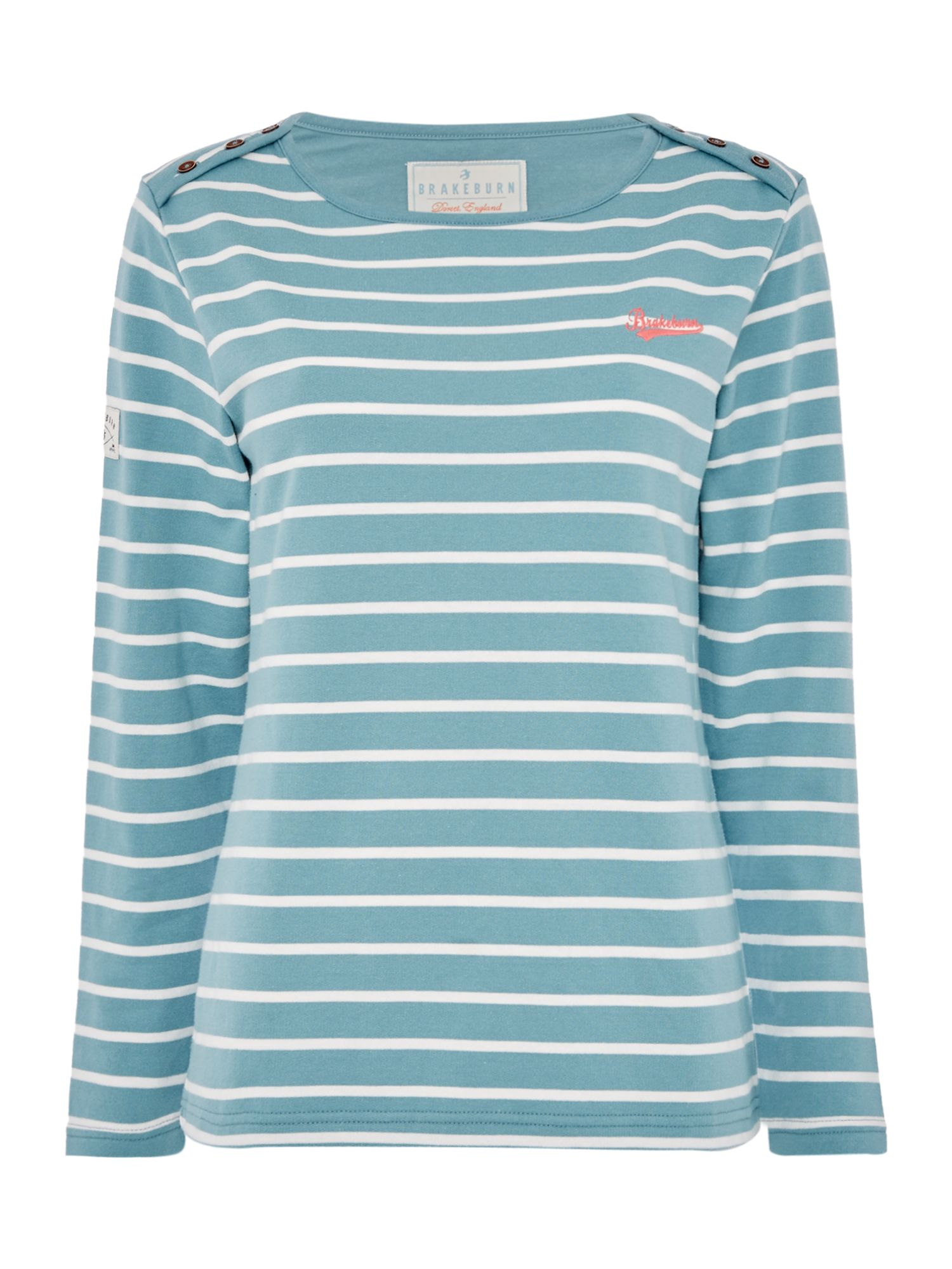 Brakeburn Bella Long sleeve Crew Neck Top, Blue