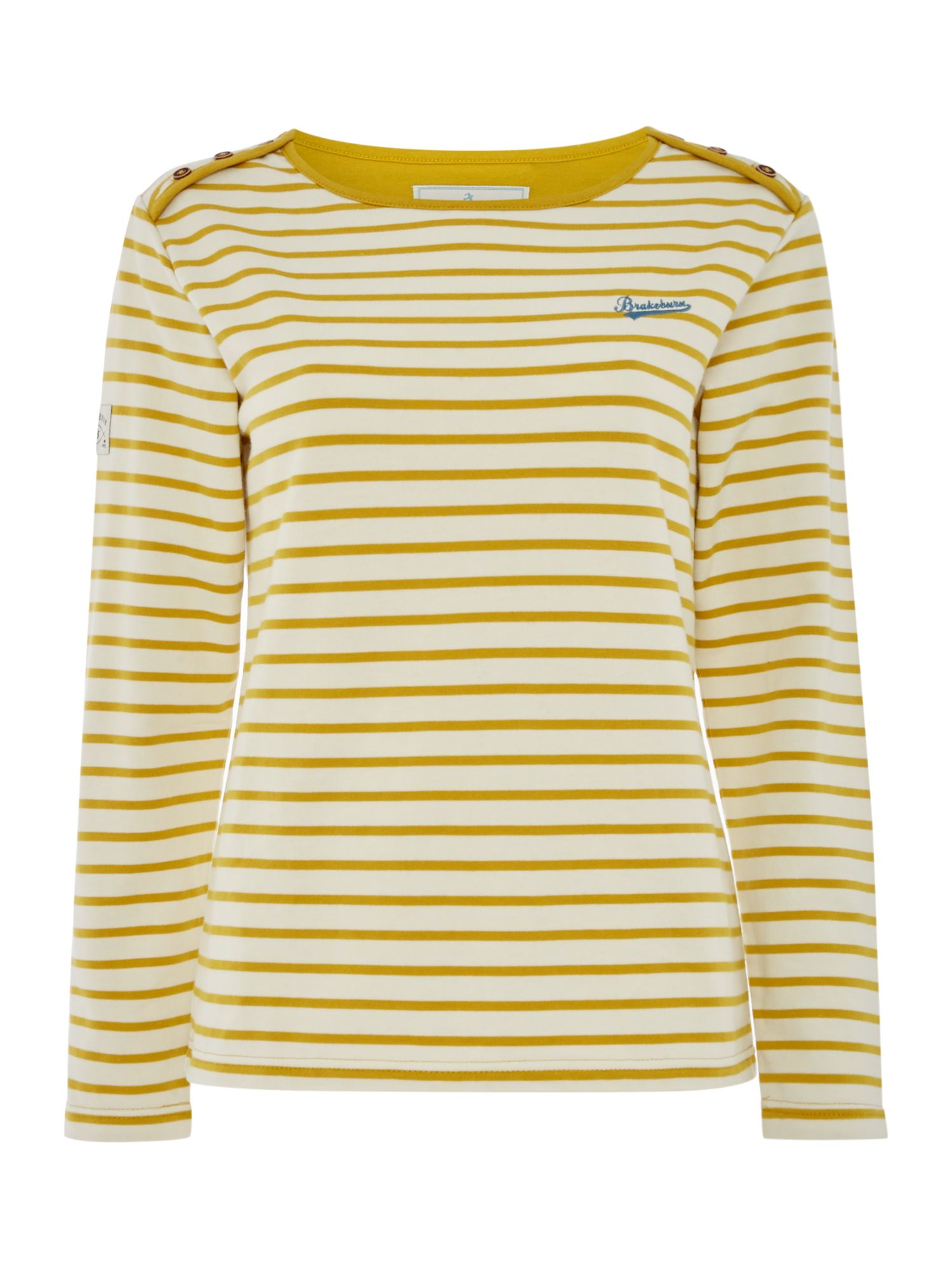 Brakeburn Bella Long sleeve Crew Neck Top, Yellow