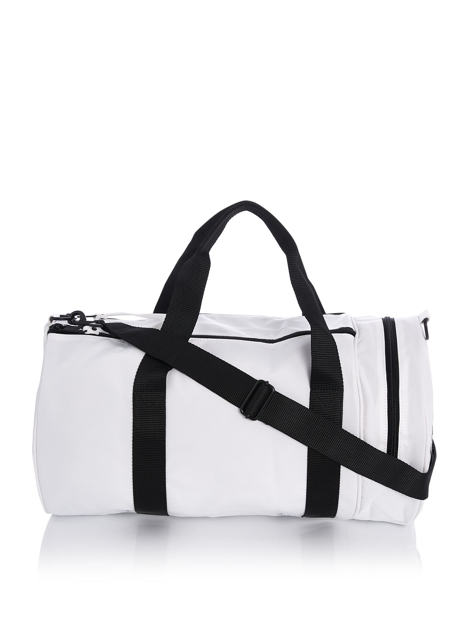 Fred Perry Tipped Barrel Bag, White