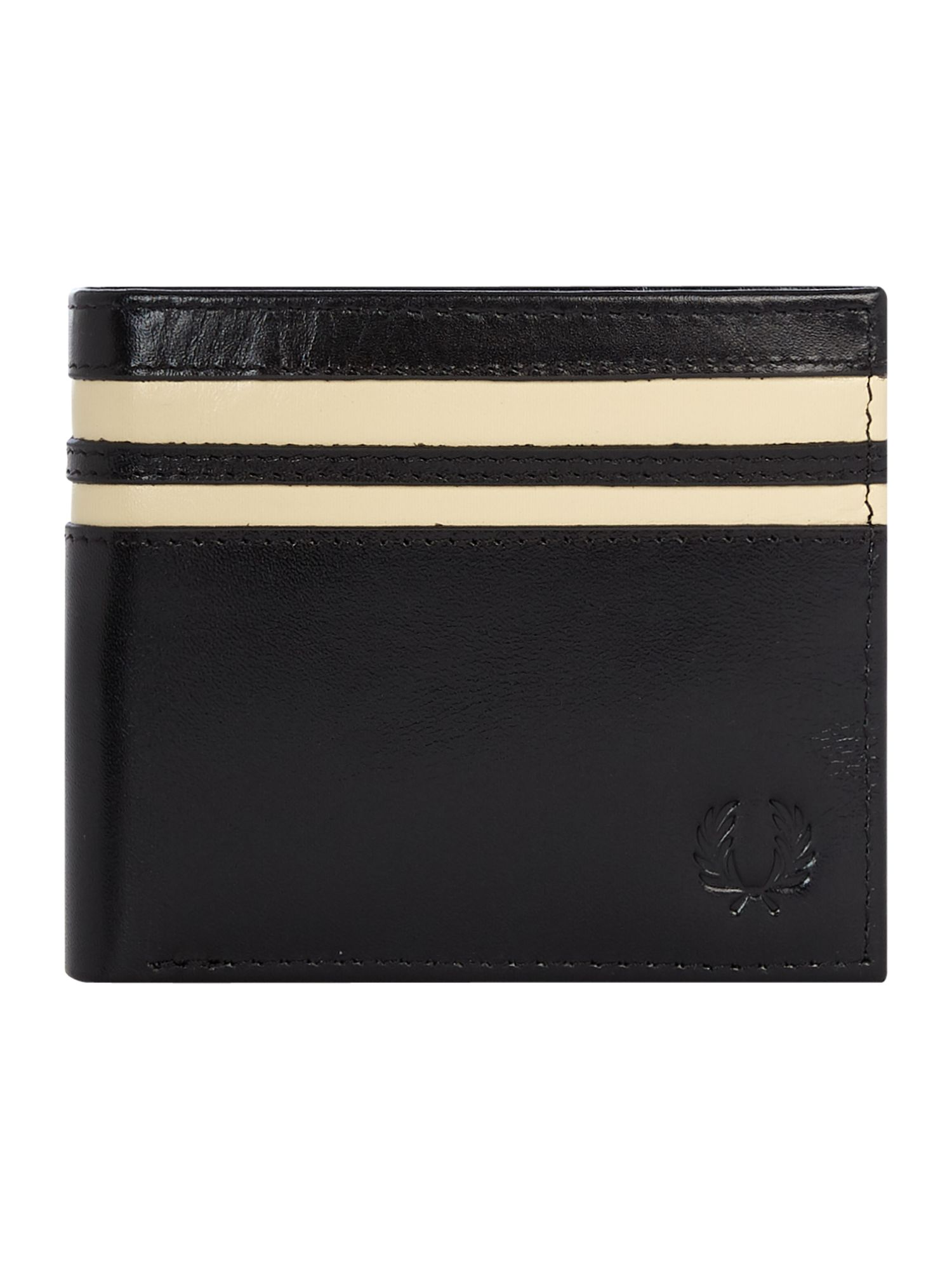 Fred Perry Leather Billfold Wallet, Black