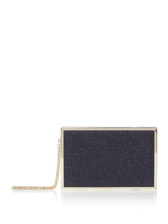 Issa Meghan Cigar Box Clutch