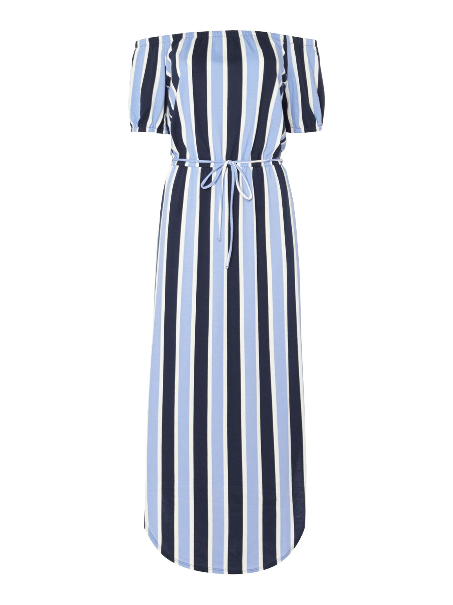 Juicy by Juicy Couture Striped Off The Shoulder Maxi Dress, Blue Stripe
