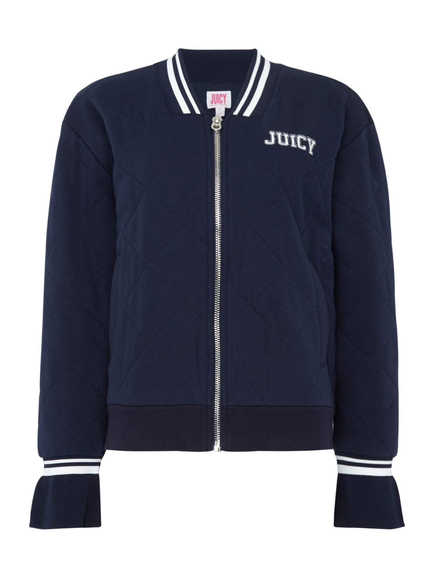 Juicy by Juicy Couture Terry Quilted Bomber Jacket, Blue