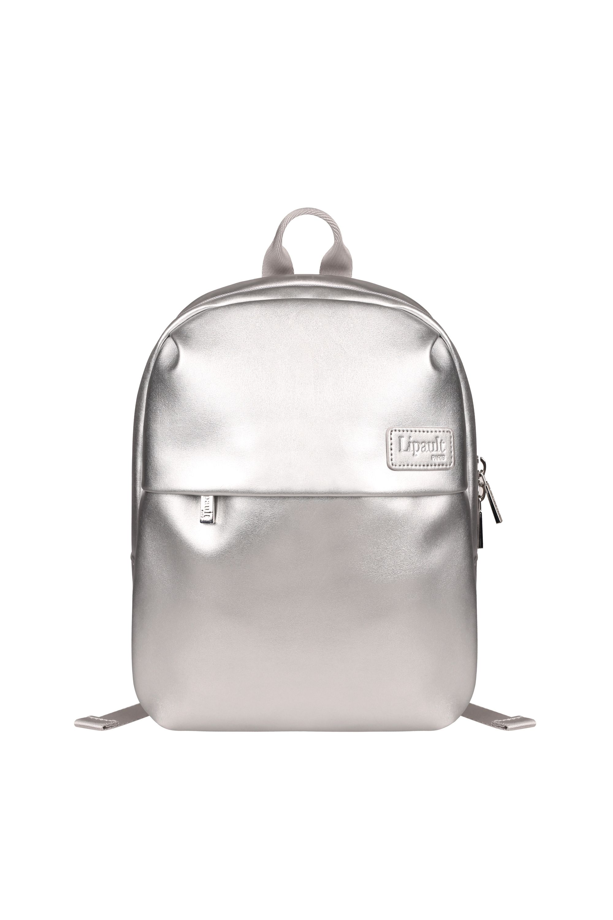 Lipault Miss Plume Silver Backpack, Silver