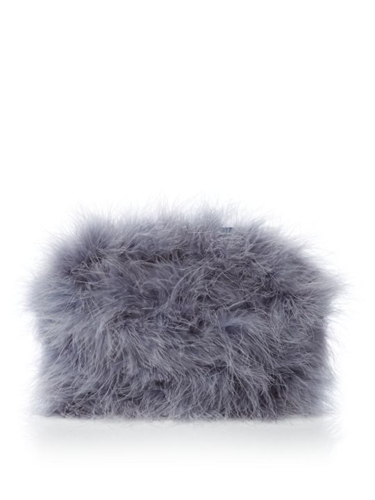 Issa, Marabou Feather Clutch
