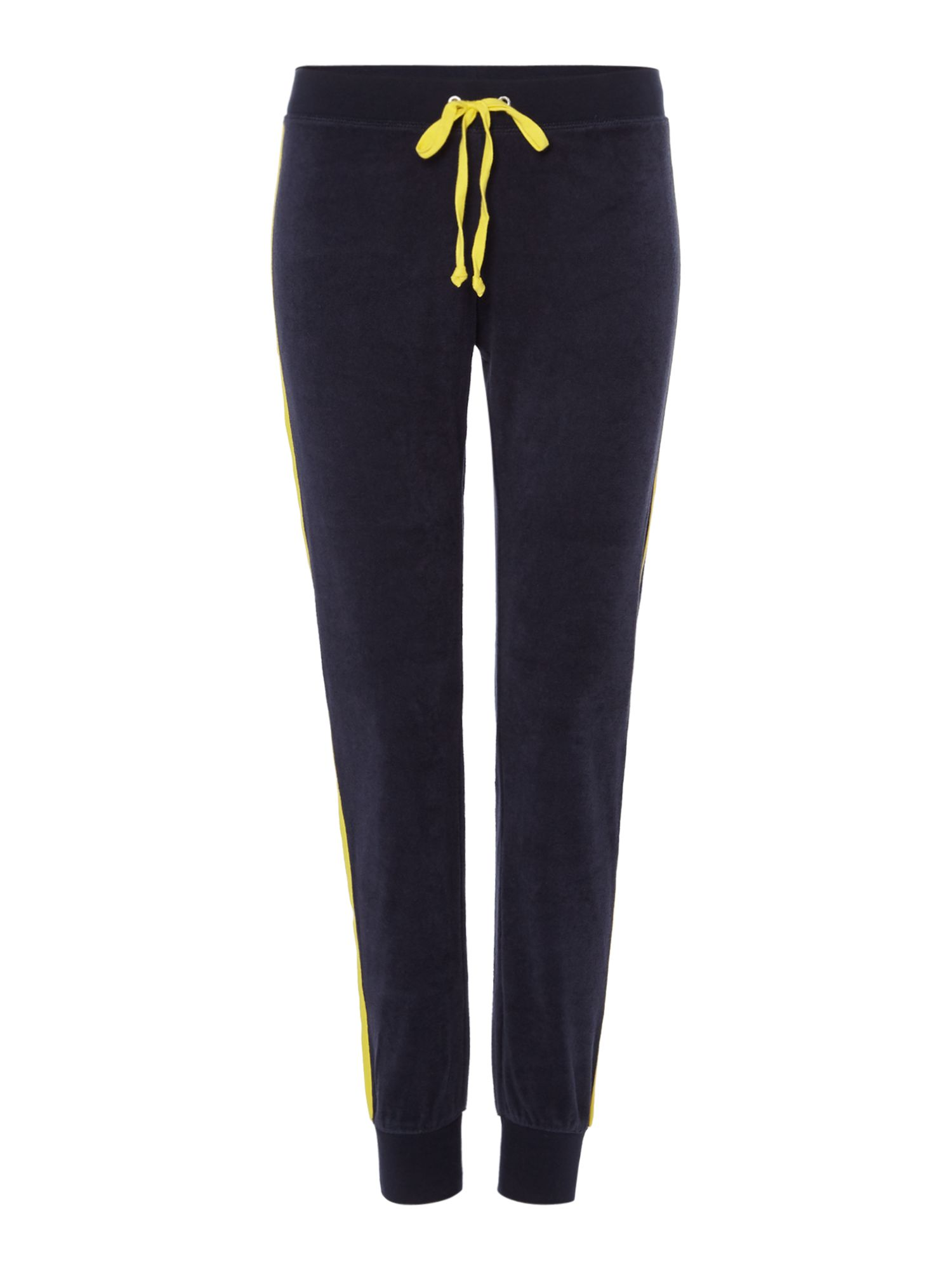 Juicy Black Label Microterry Zuma Side Stripe Tracksuit Bottoms, Blue