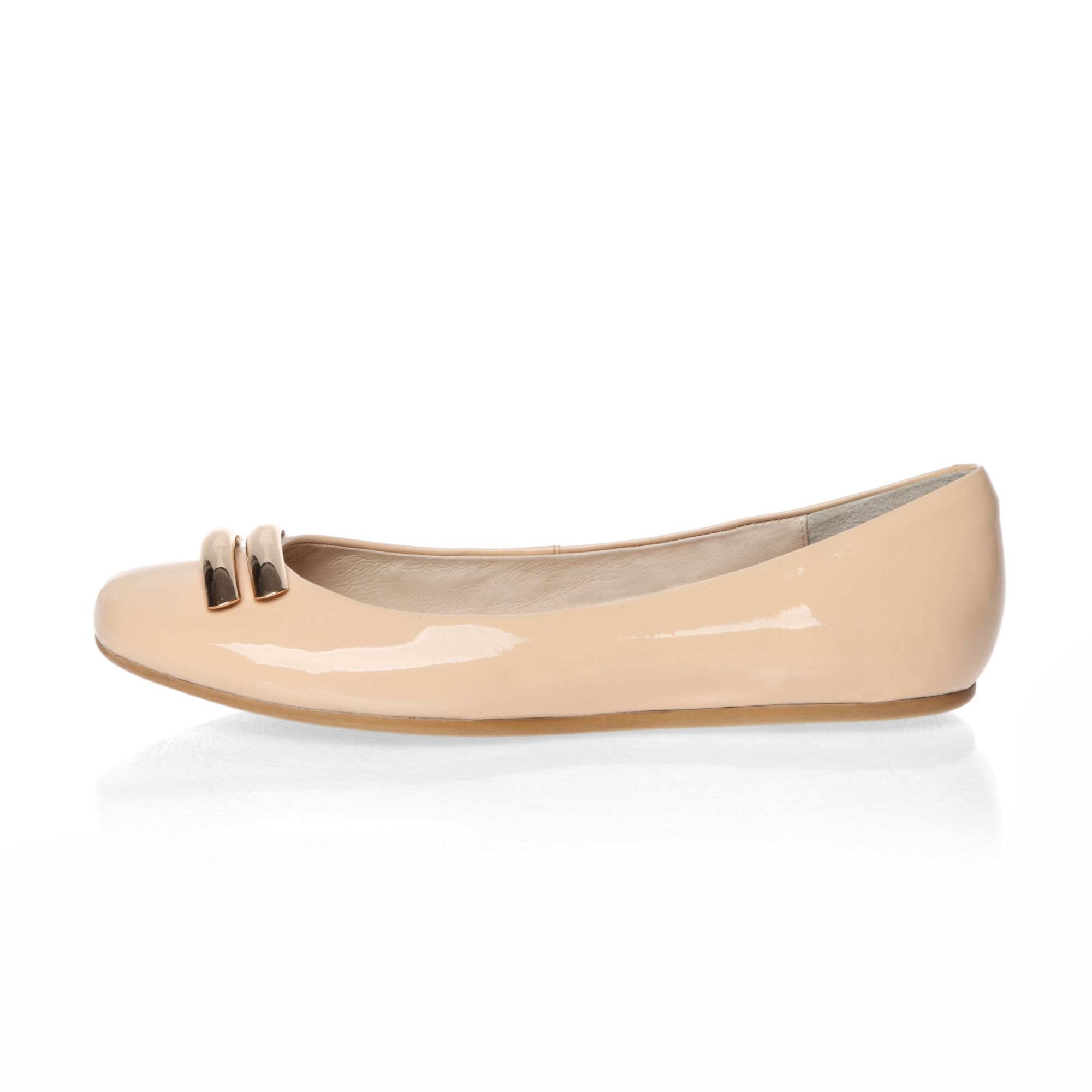Metal trimed ballerina shoes
