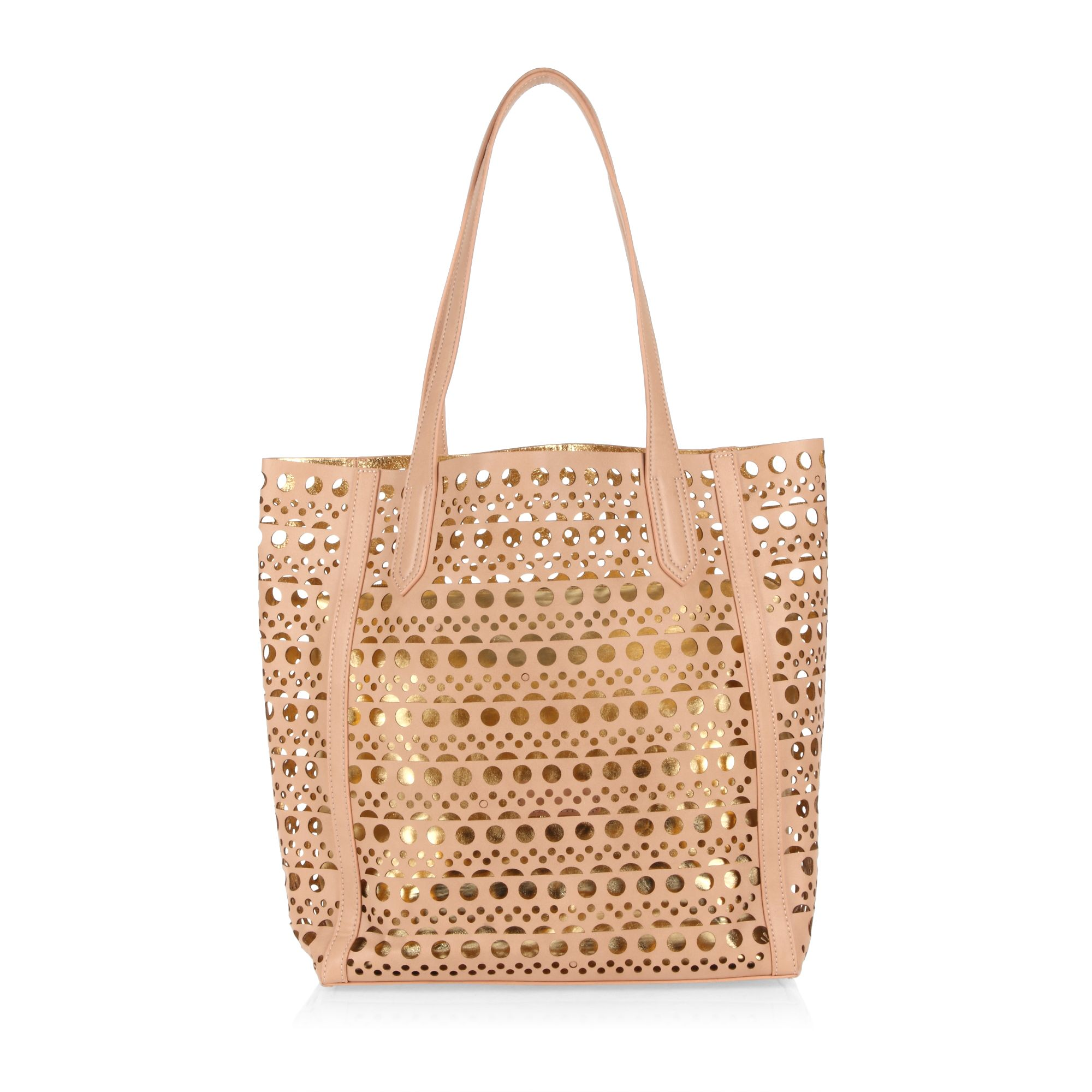 Beautiful metallic gold pouch tote bag