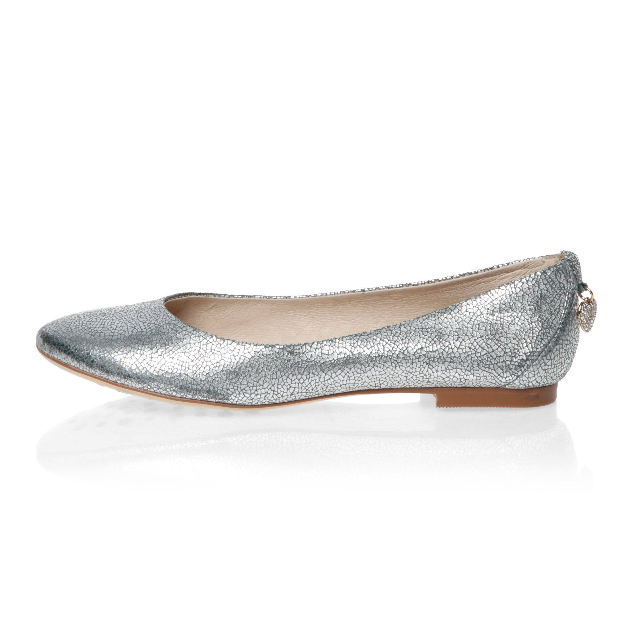 Glitter effect ballerina shoes