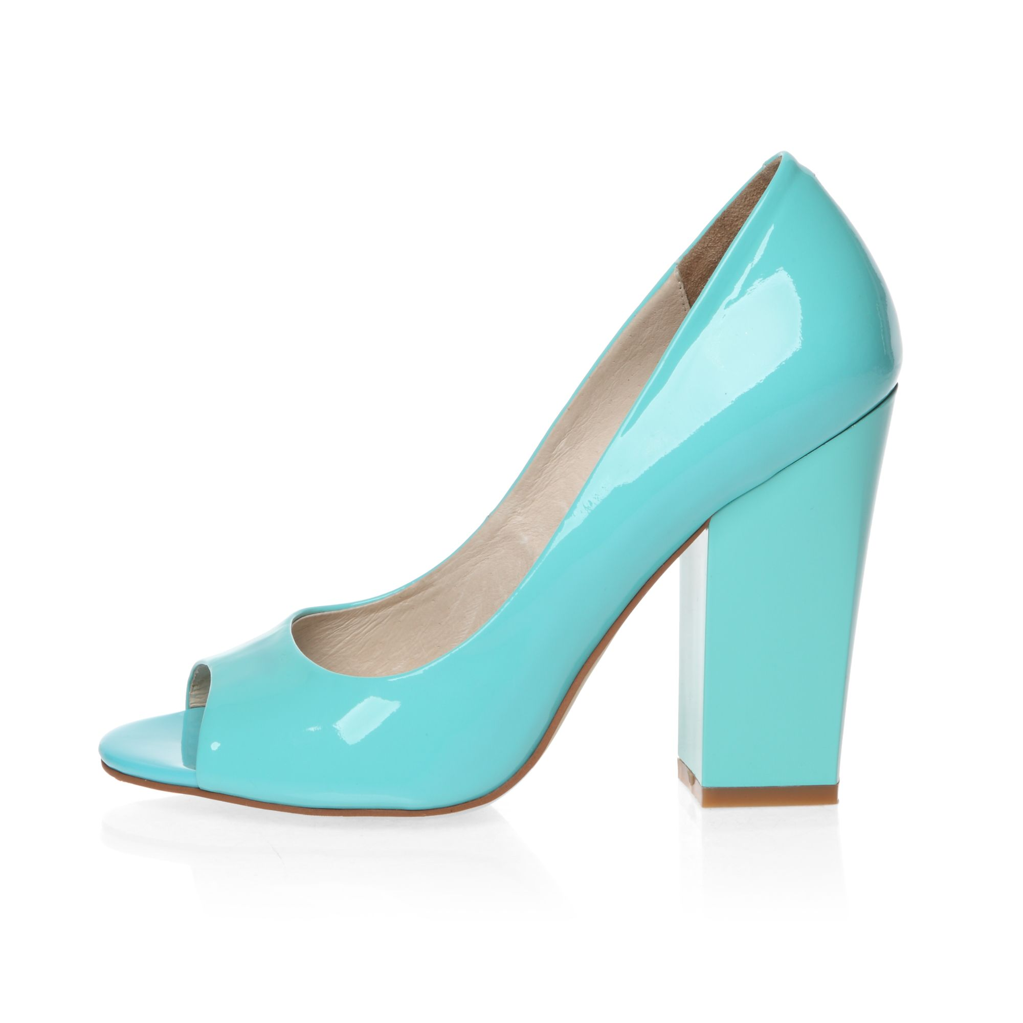 Peep toe heeled court shoes