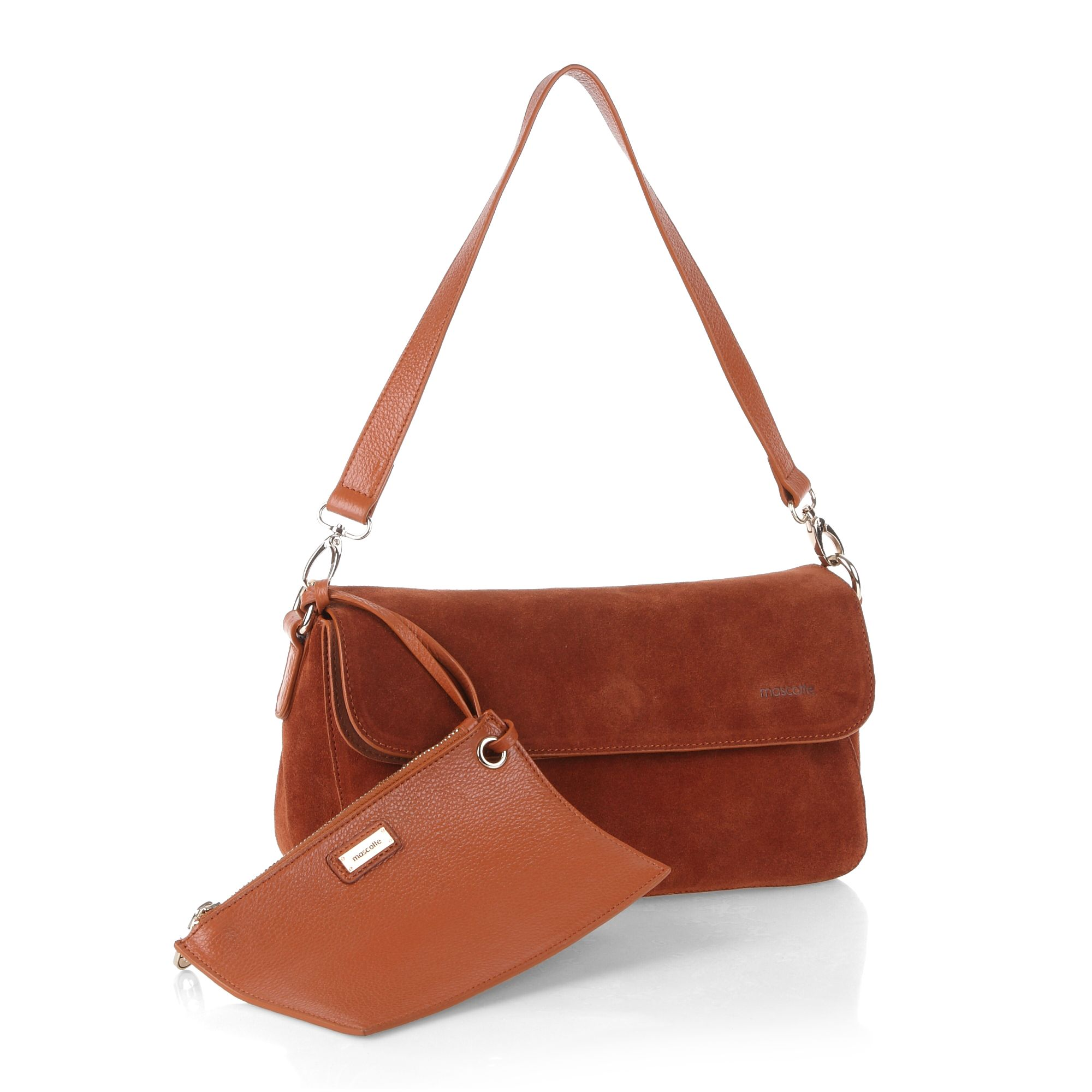 Flapover satchel bag