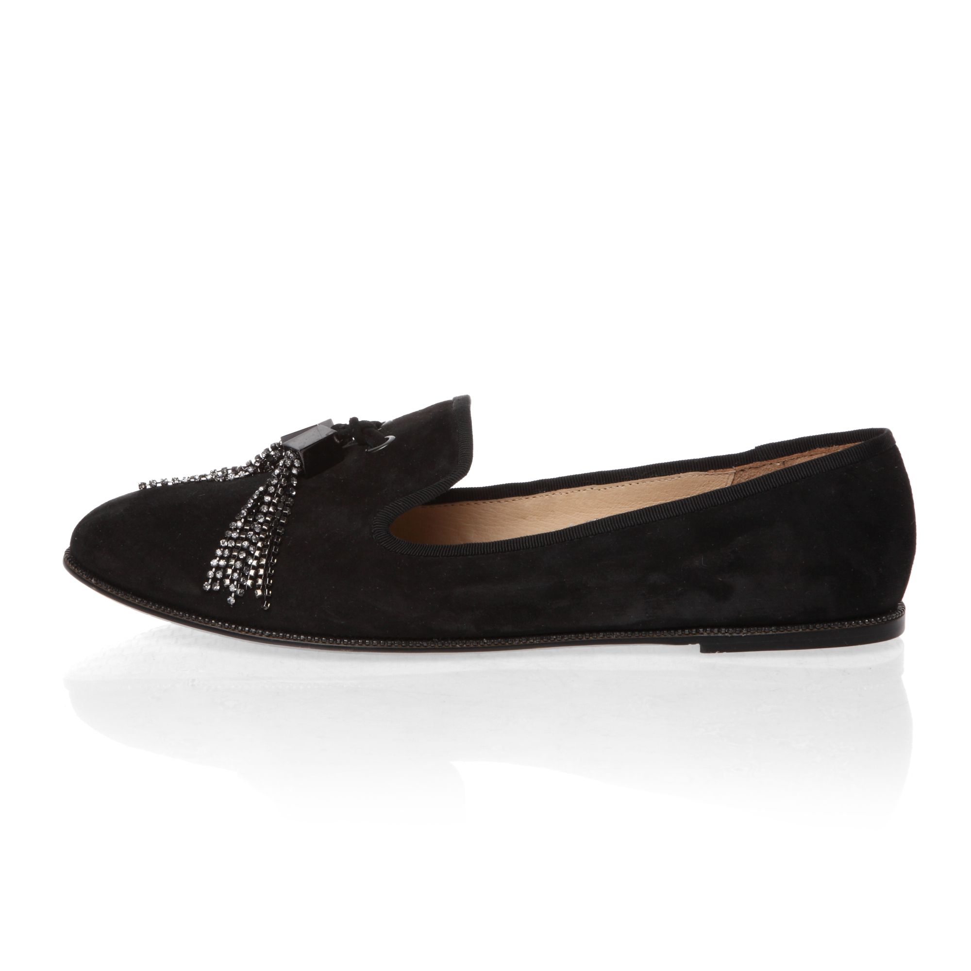Diamonte tassel loafer shoes