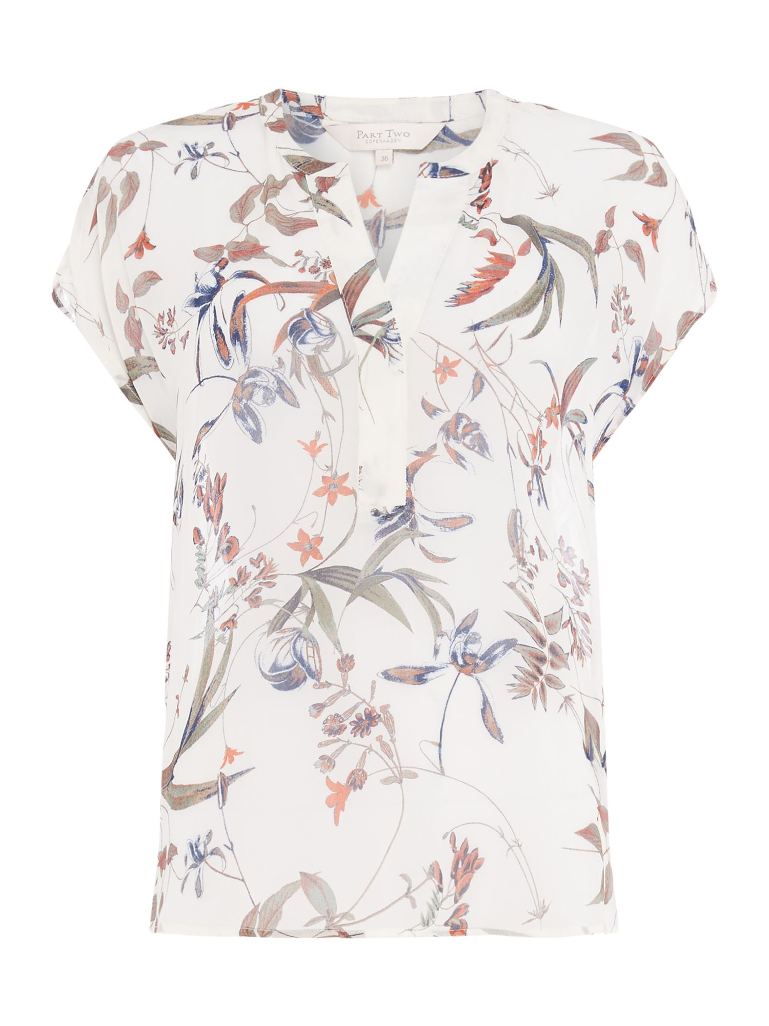 Part Two Helena floral top, Multi-Coloured