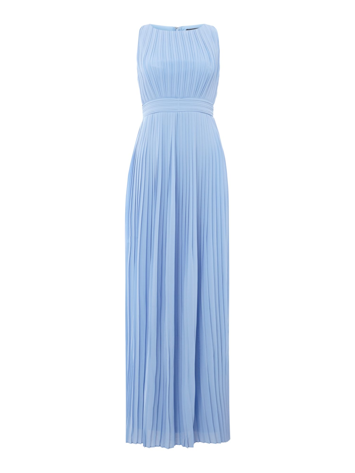 tfnc High round neck maxi dress, Blue