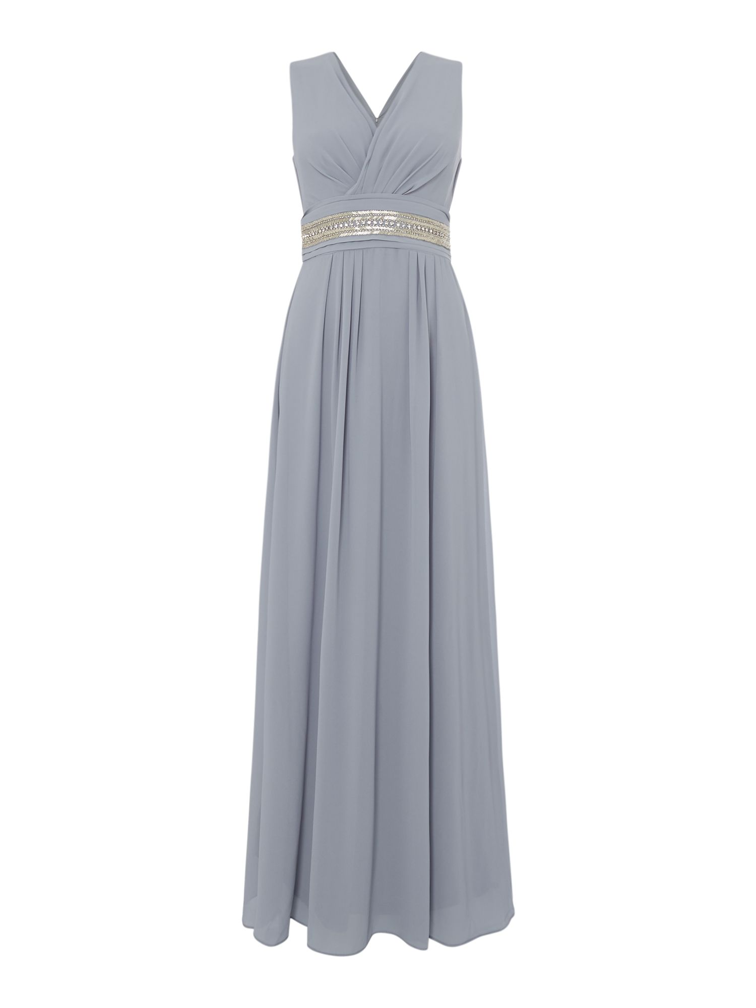 tfnc V neck strappy midi dress, Grey
