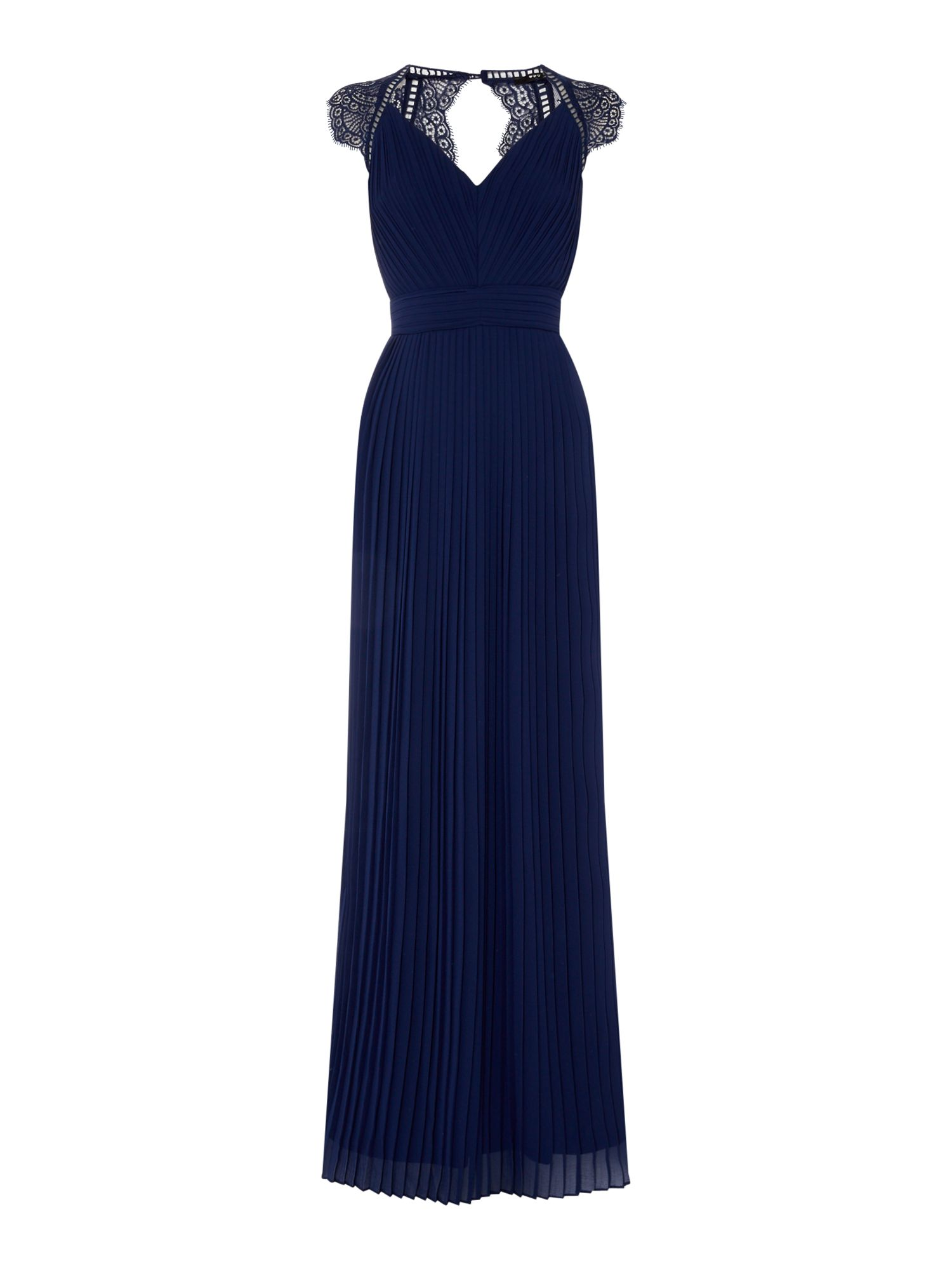 tfnc V neck sleeveless gown, Blue