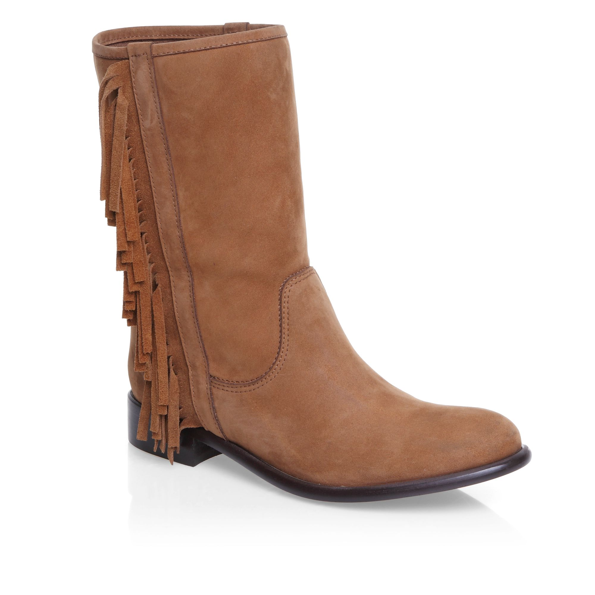 Tassle detailed ankle boots
