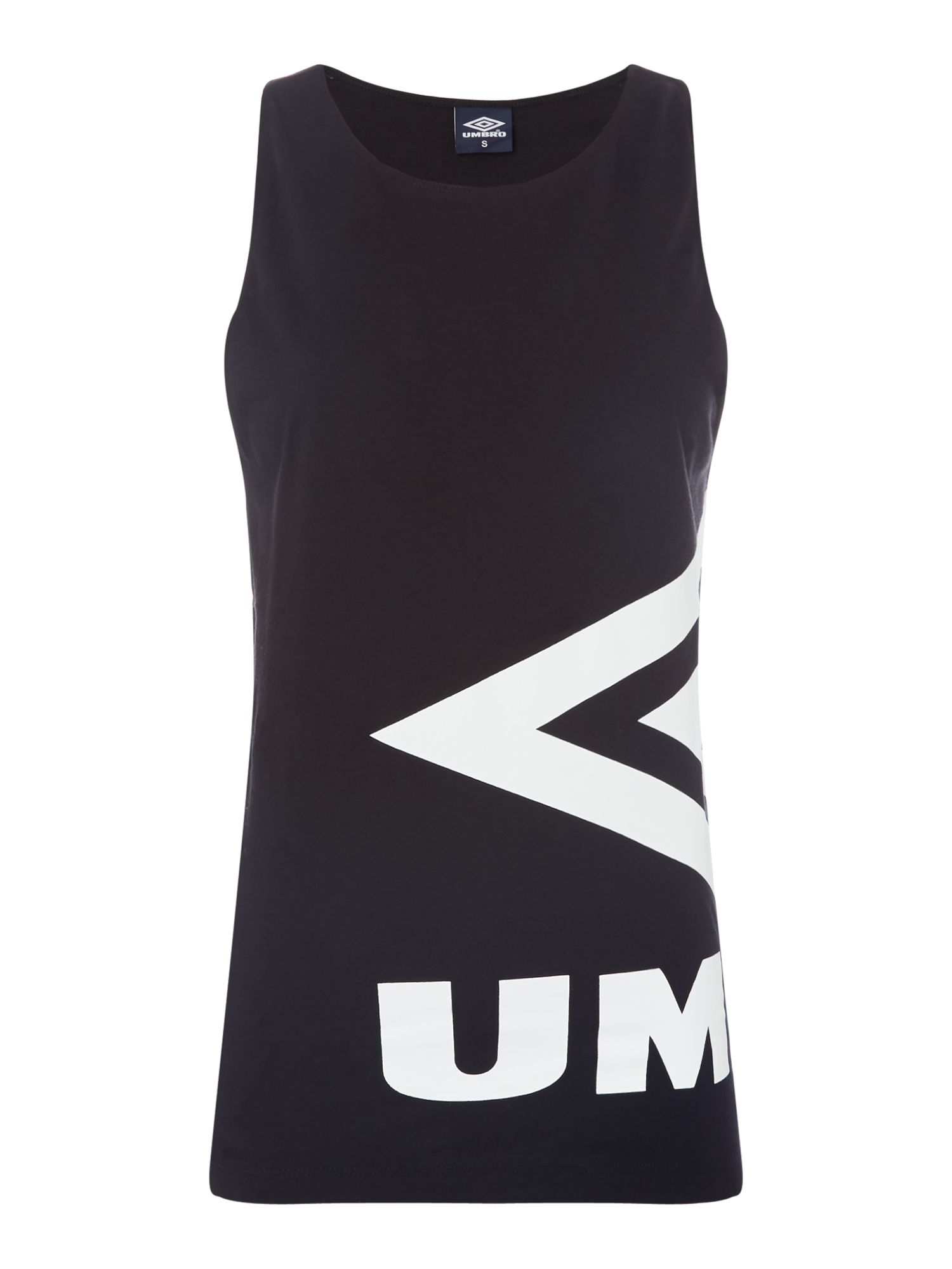 Umbro Side logo vest, Black