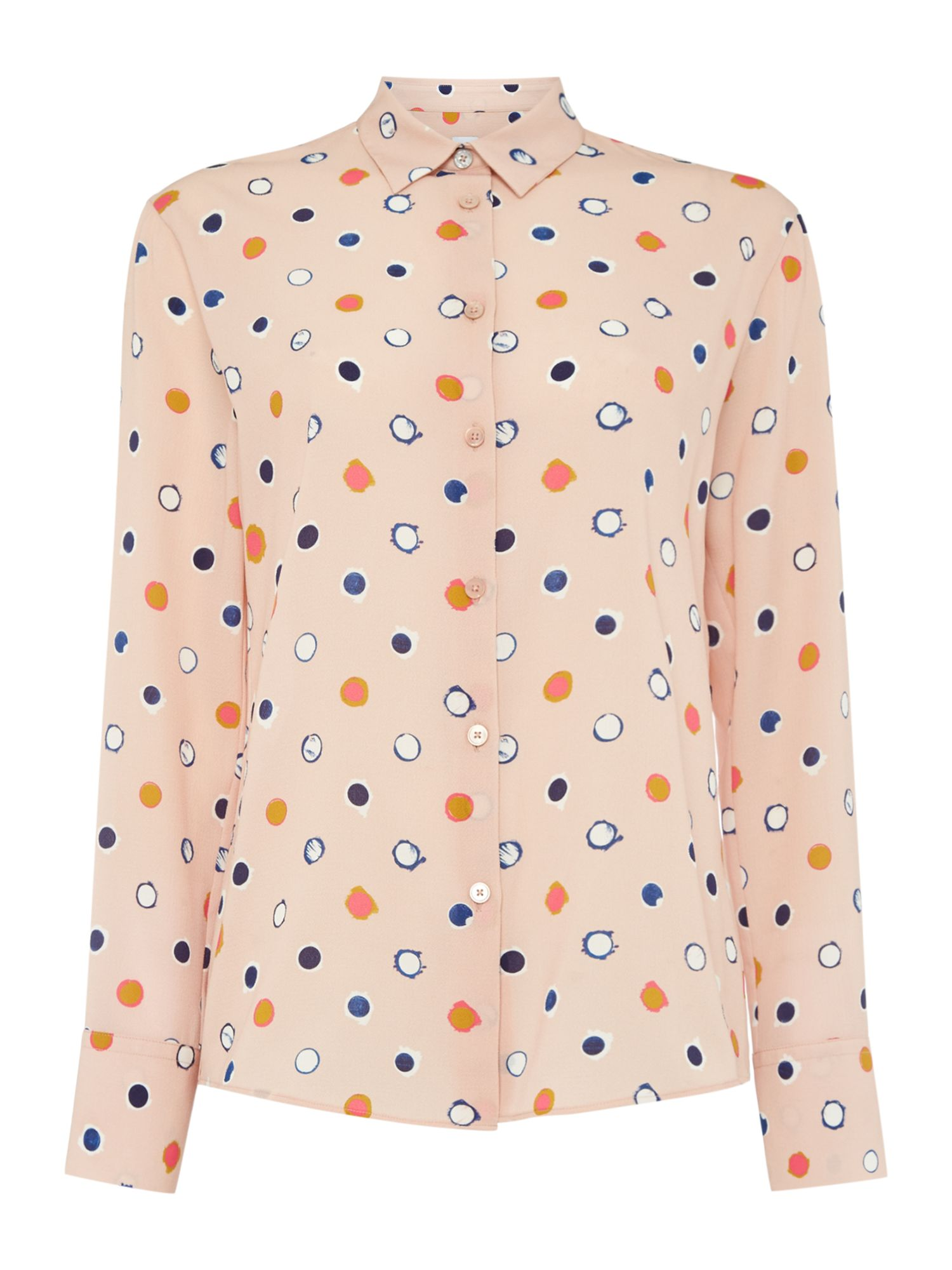 PS By Paul Smith Pink shirt with spot print, Multi-Coloured