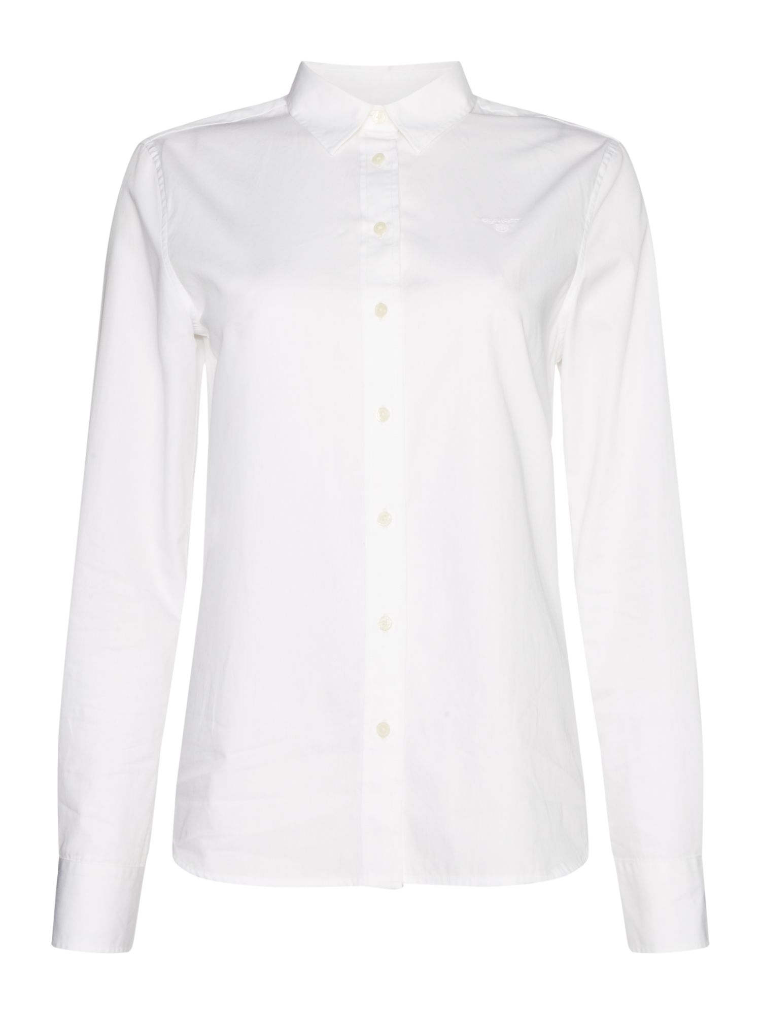 GANT Long Sleeve Button Up Broadcloth Shirt, White