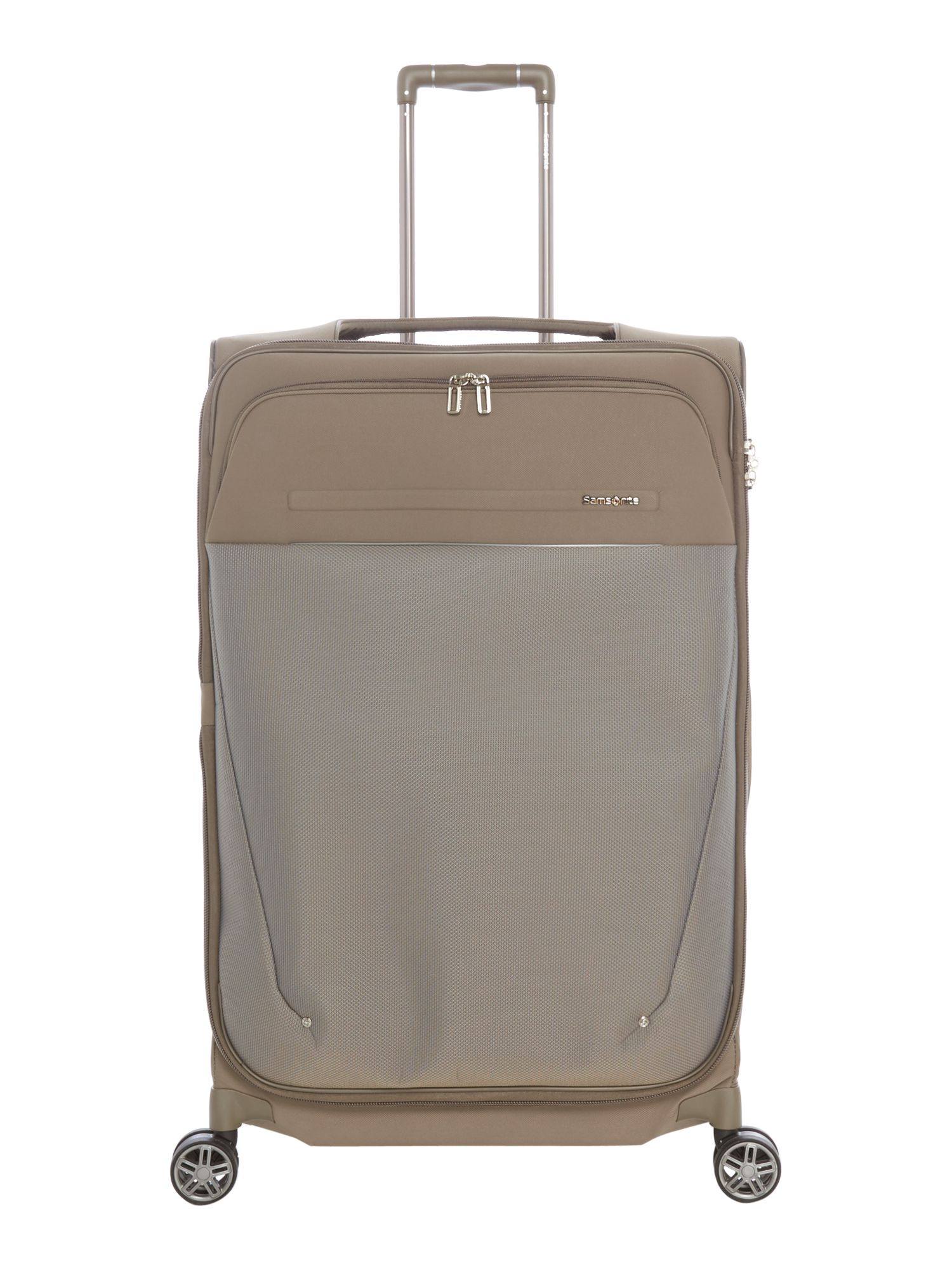 Samsonite B-Lite Icon Dark Sand 78cm Large Spinner Suitcase, White