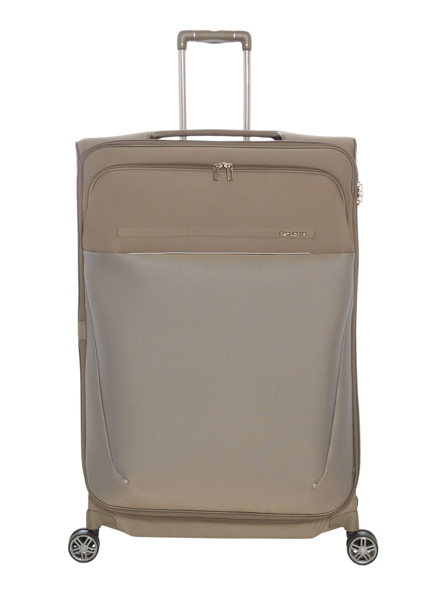 Samsonite B-Lite Icon Dark Sand 83cm Extra Large Spinner, White