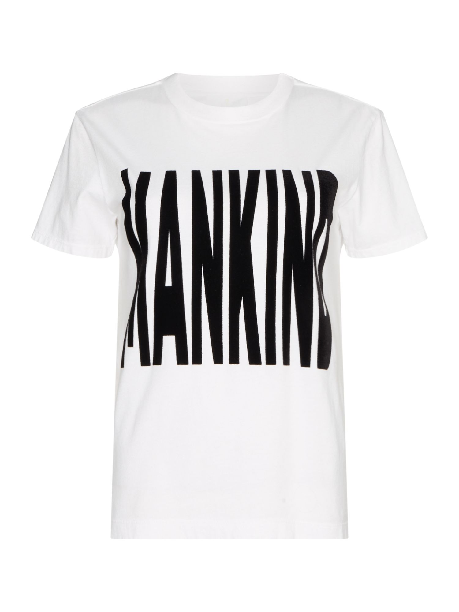 7 For All Mankind Baby Short Sleeve Mankind Logo Tee, White