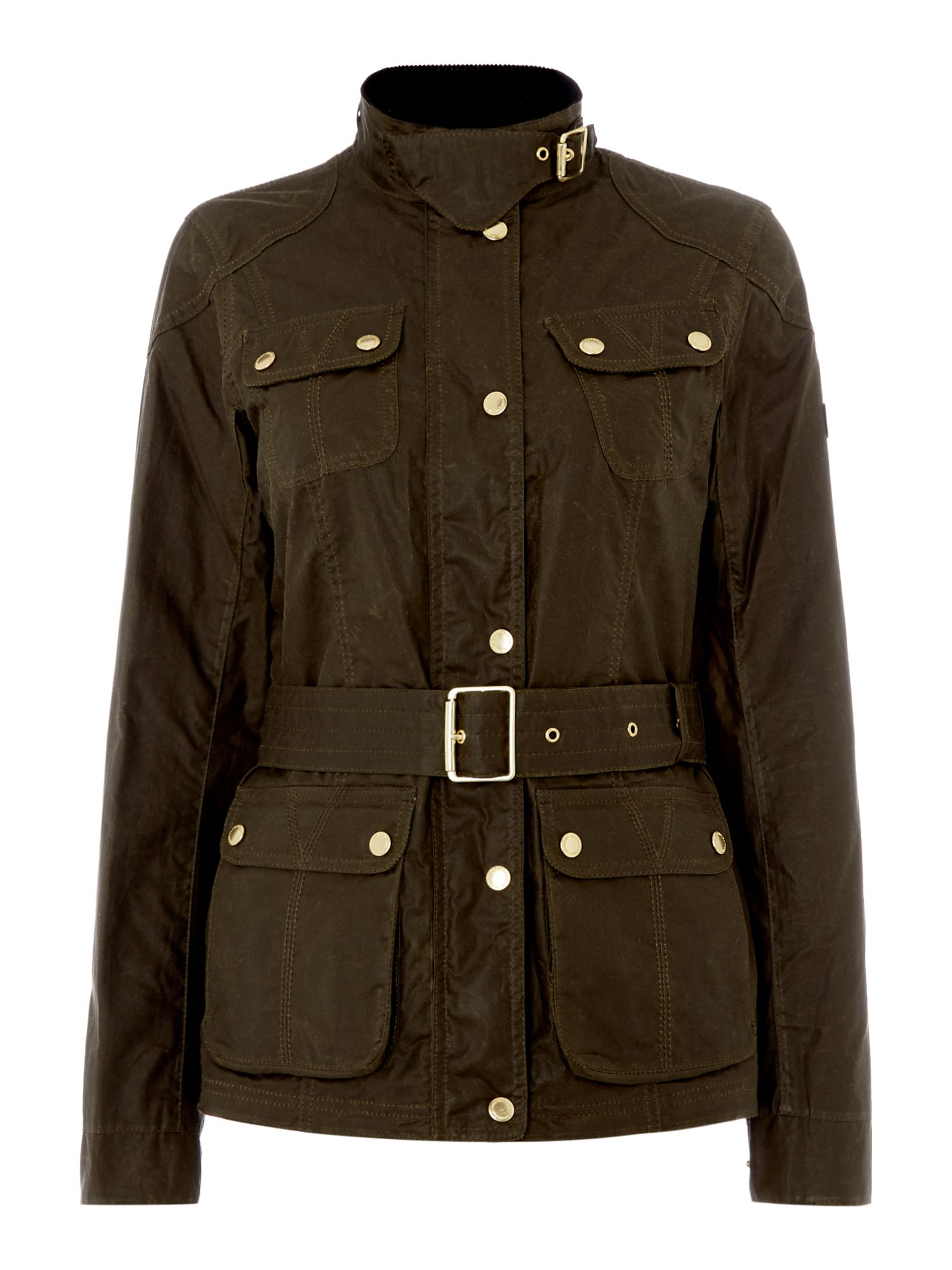 Barbour Anglesey Wax Belted Jacket, Green