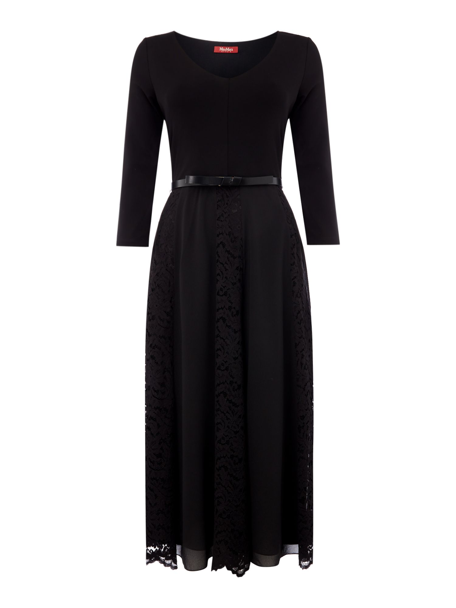 Max Mara Studio Pleater jersey dress, Black