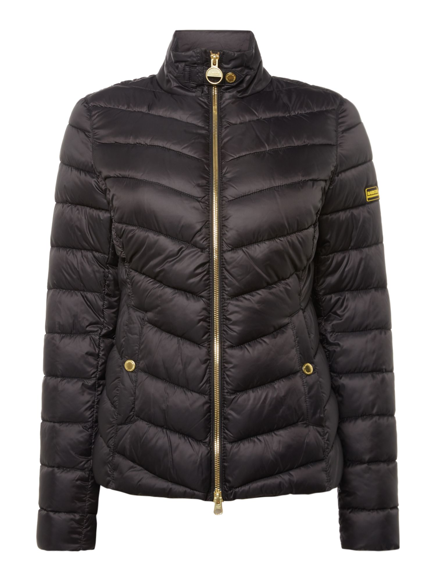Barbour Aubern Chevron Quilted Jacket, Black