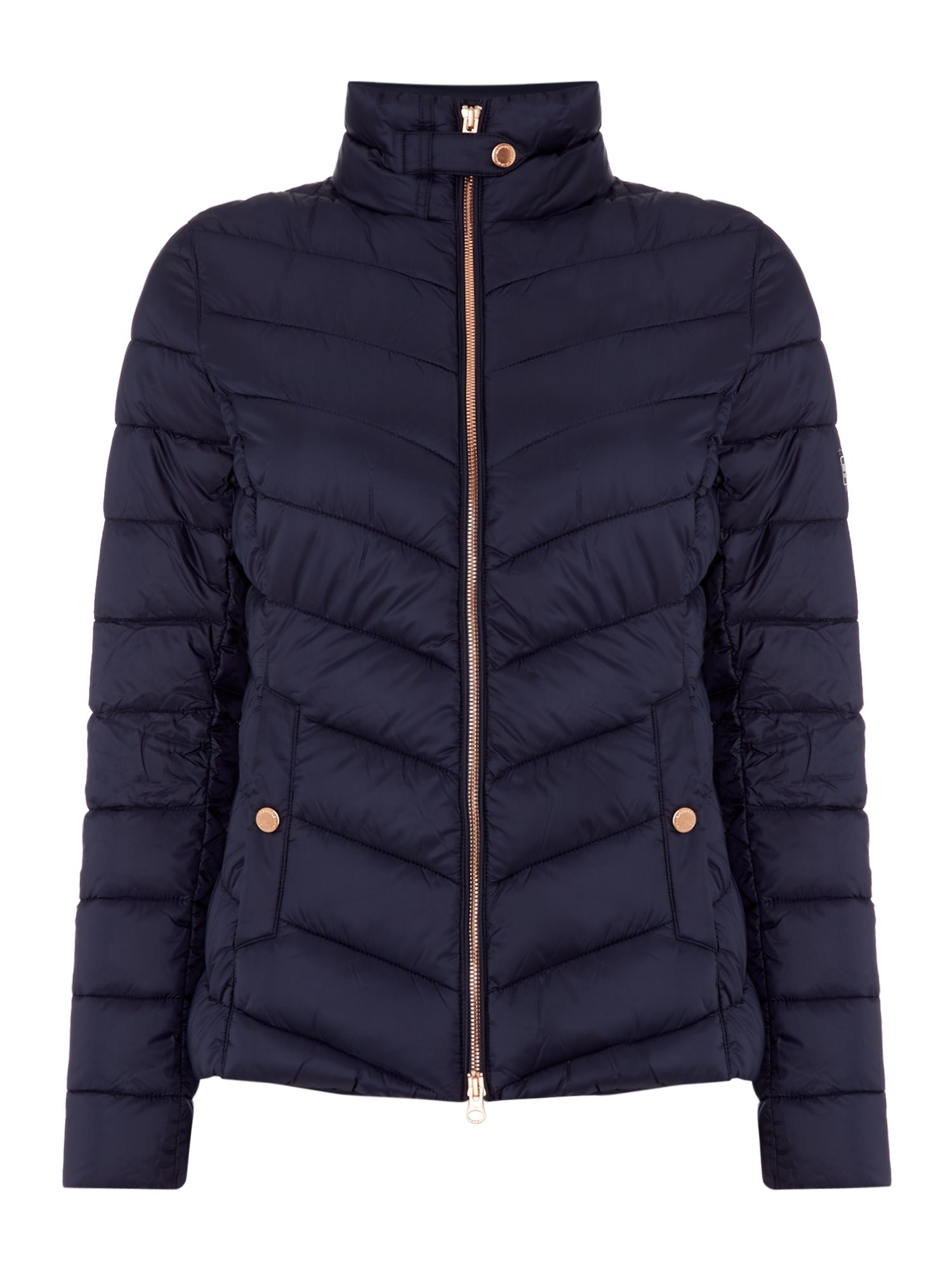 Barbour Aubern Chevron Quilted Jacket, Blue