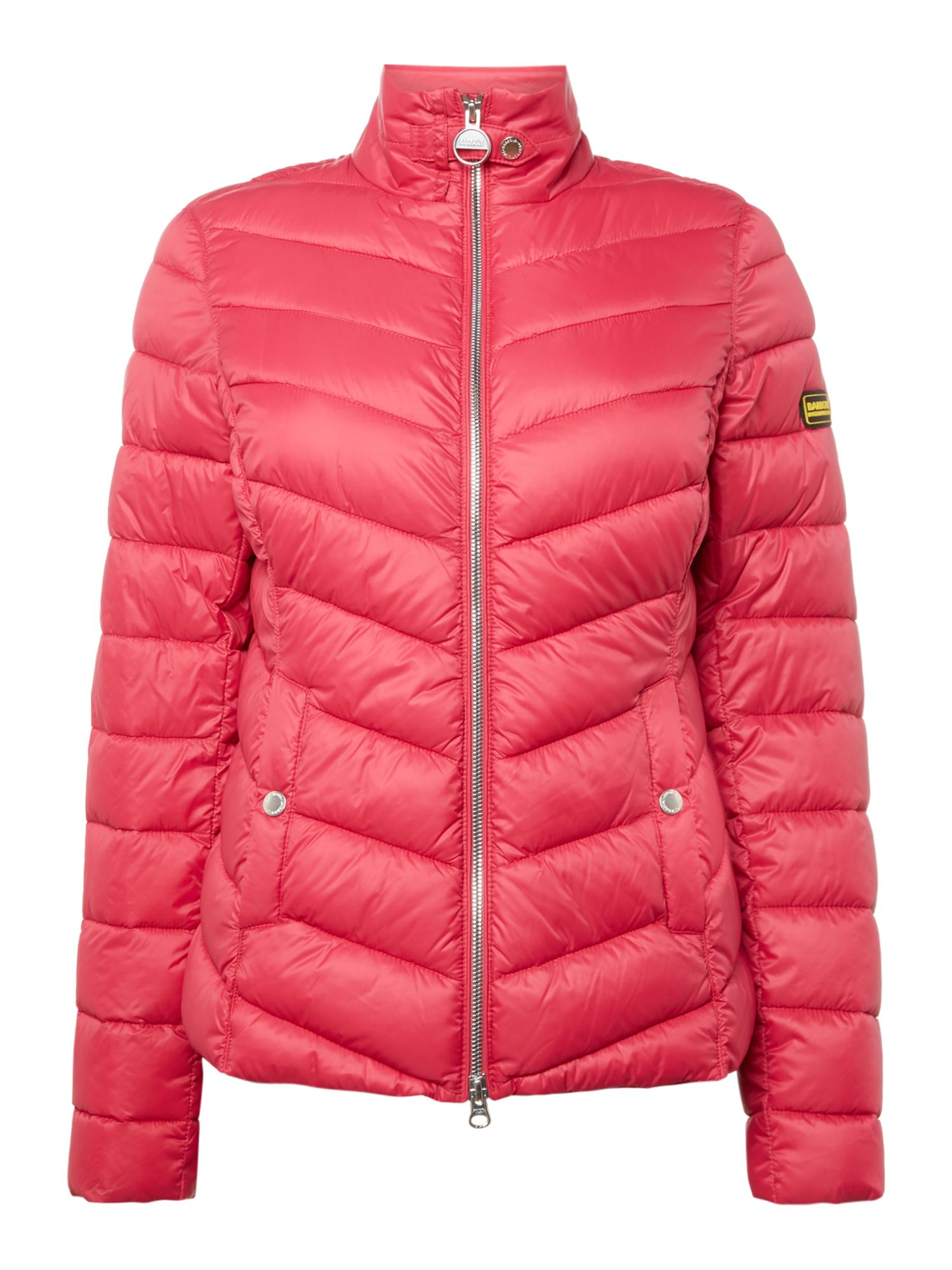 Barbour Aubern Chevron Quilted Jacket, Pink