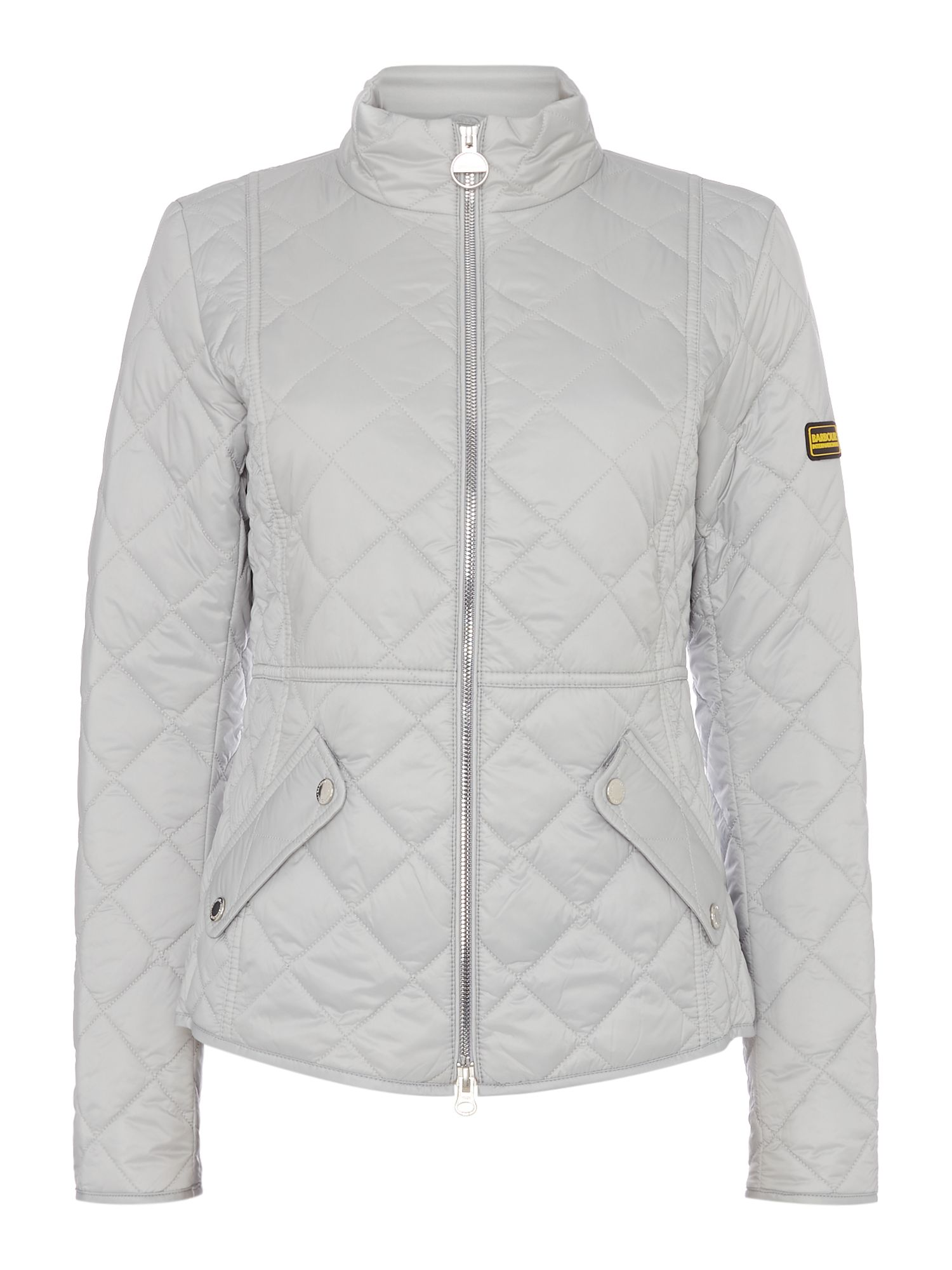 Barbour Delaware Quilted Short Jacket, White